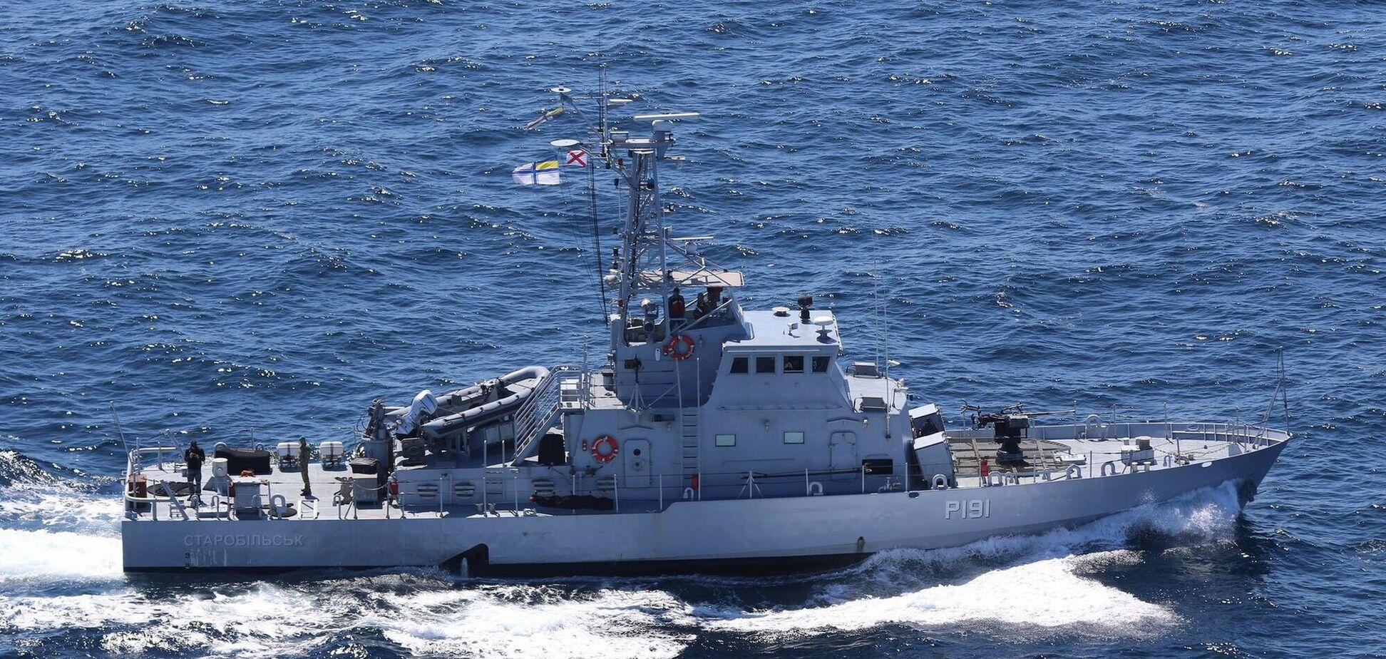 Учения ВМСУ в Черном море