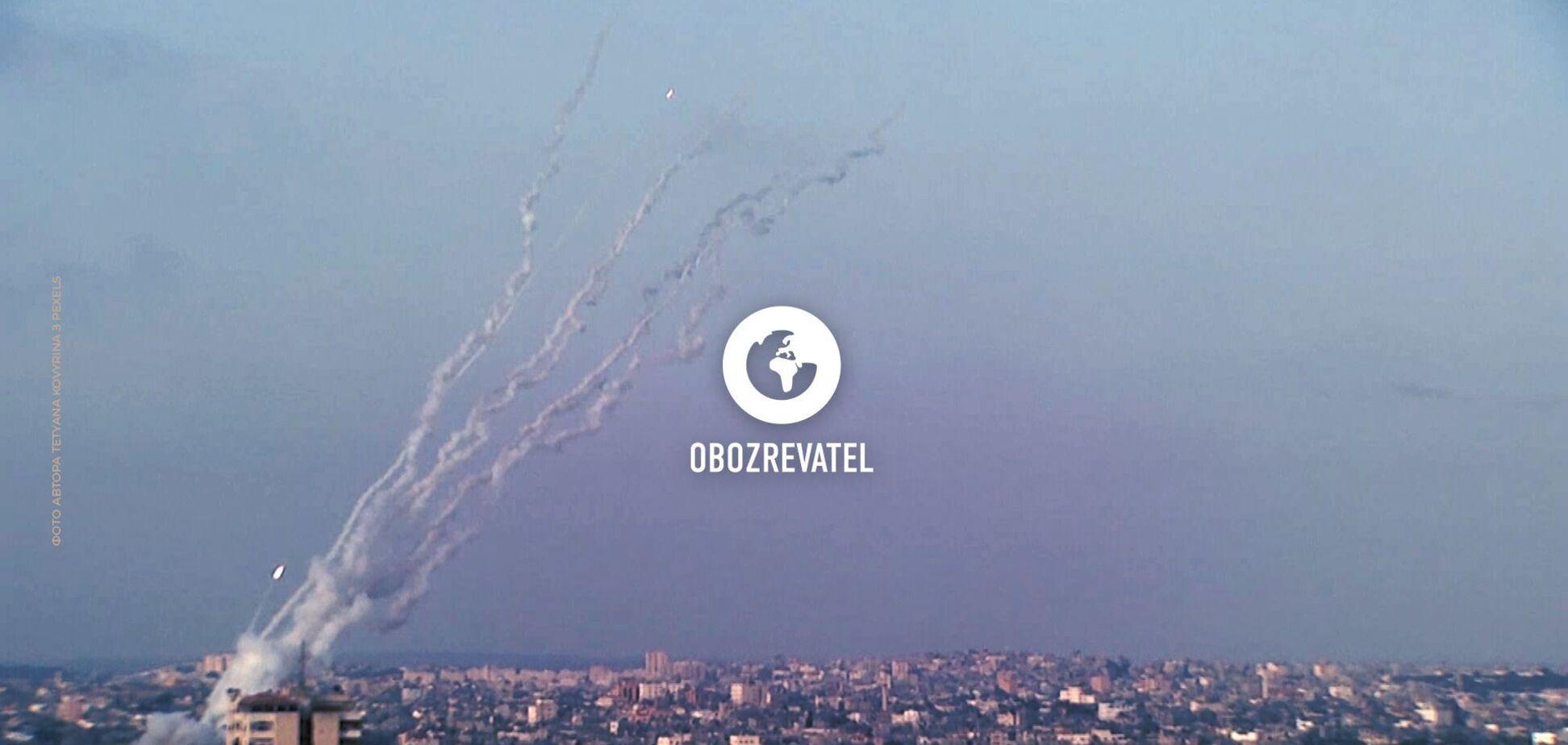 Відео ракетного обстрілу з житлових кварталів Гази в бік Єрусалиму