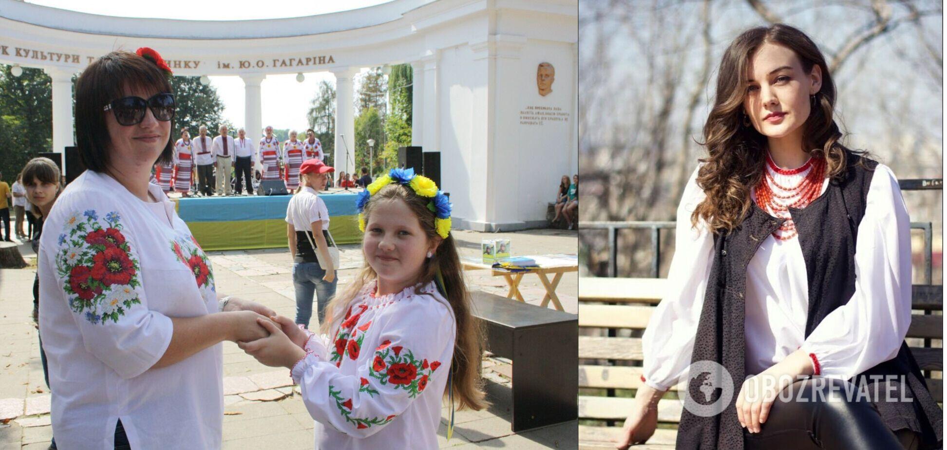 Учасники маршу вишиванок в Житомирі / Леся Воронюк