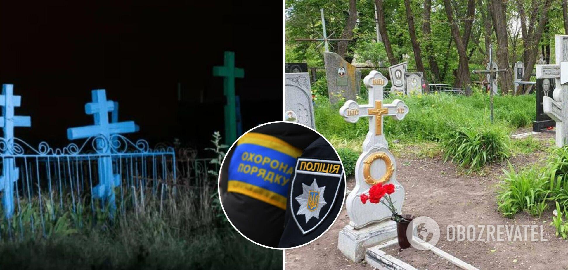 Під Полтавою діти влаштували нічні гуляння на кладовищі й похвалилися в соцмережі. Відео