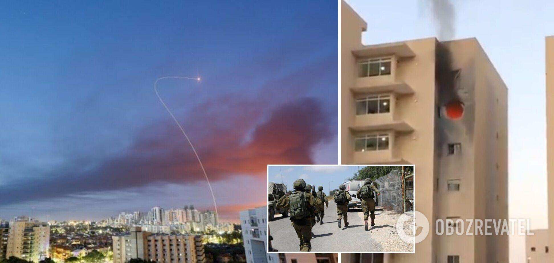 'Залізний купол' Ізраїлю не впорався з атакою 130 ракет: загинула дитина, є поранені. Фото та відео