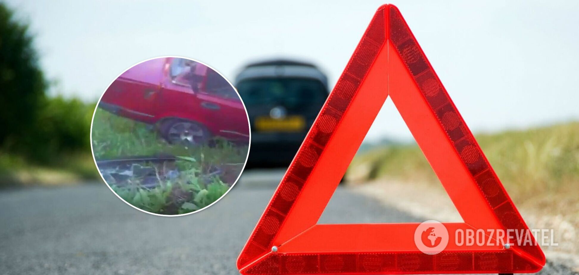 На Київщині авто влетіло в дерево: чоловік загинув, жінку врятували патрульні. Відео