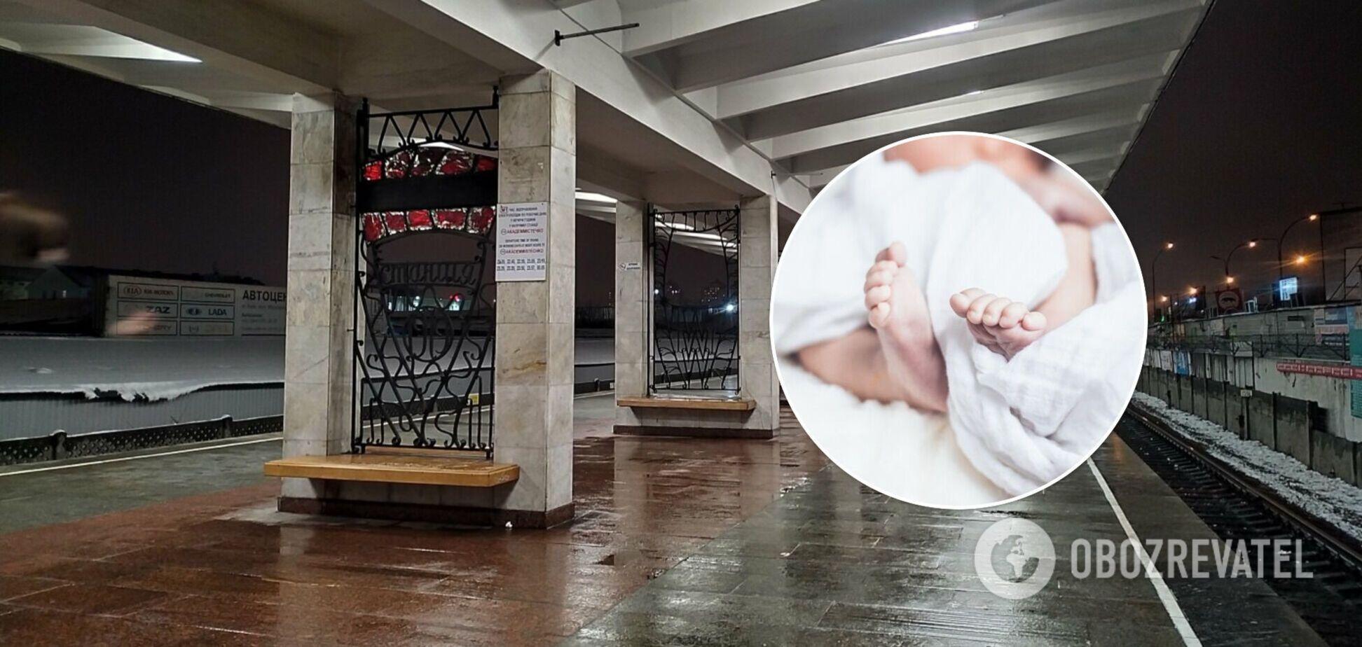 У Києві жінка народила дитину в переході станції метро