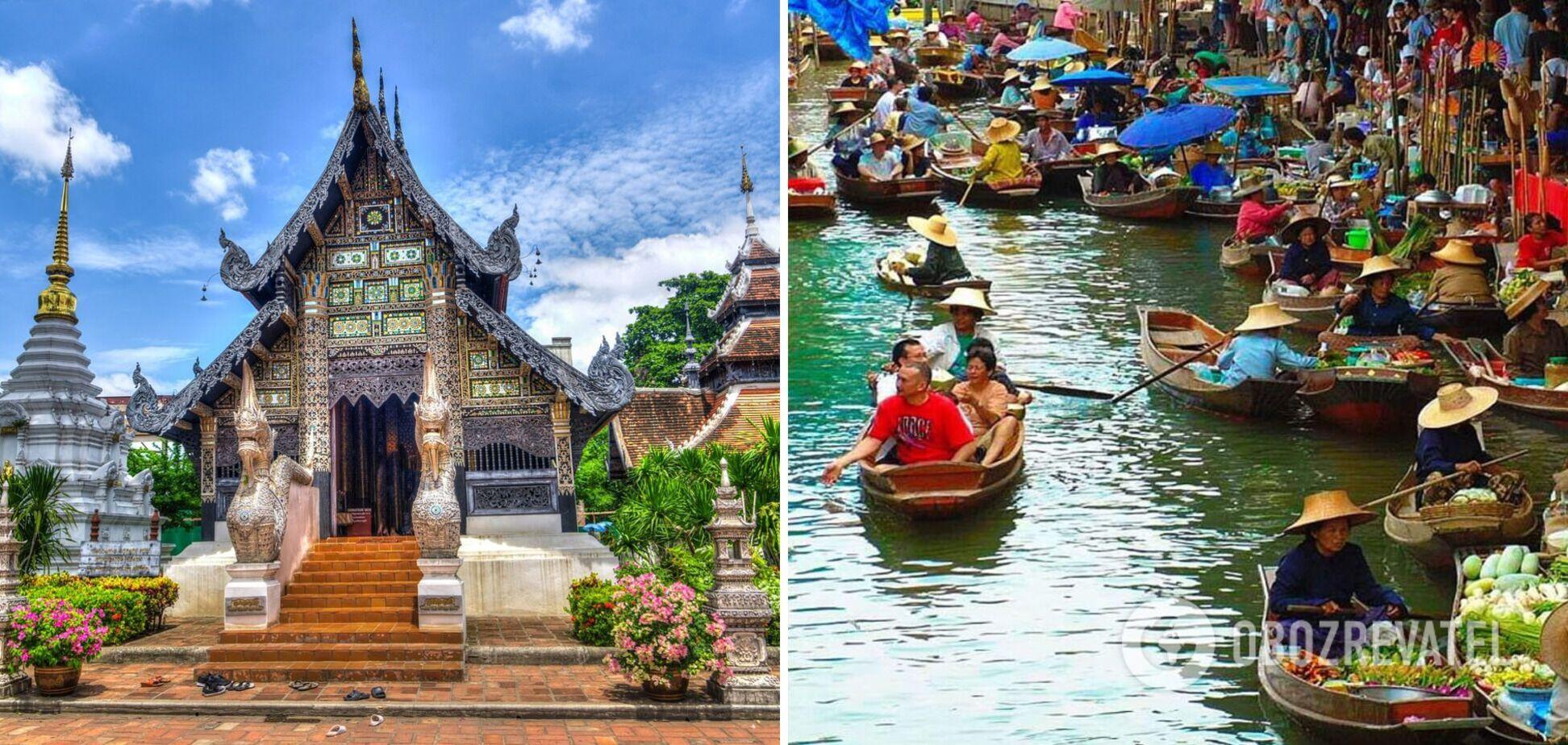 В Таиланде работает рынок на воде