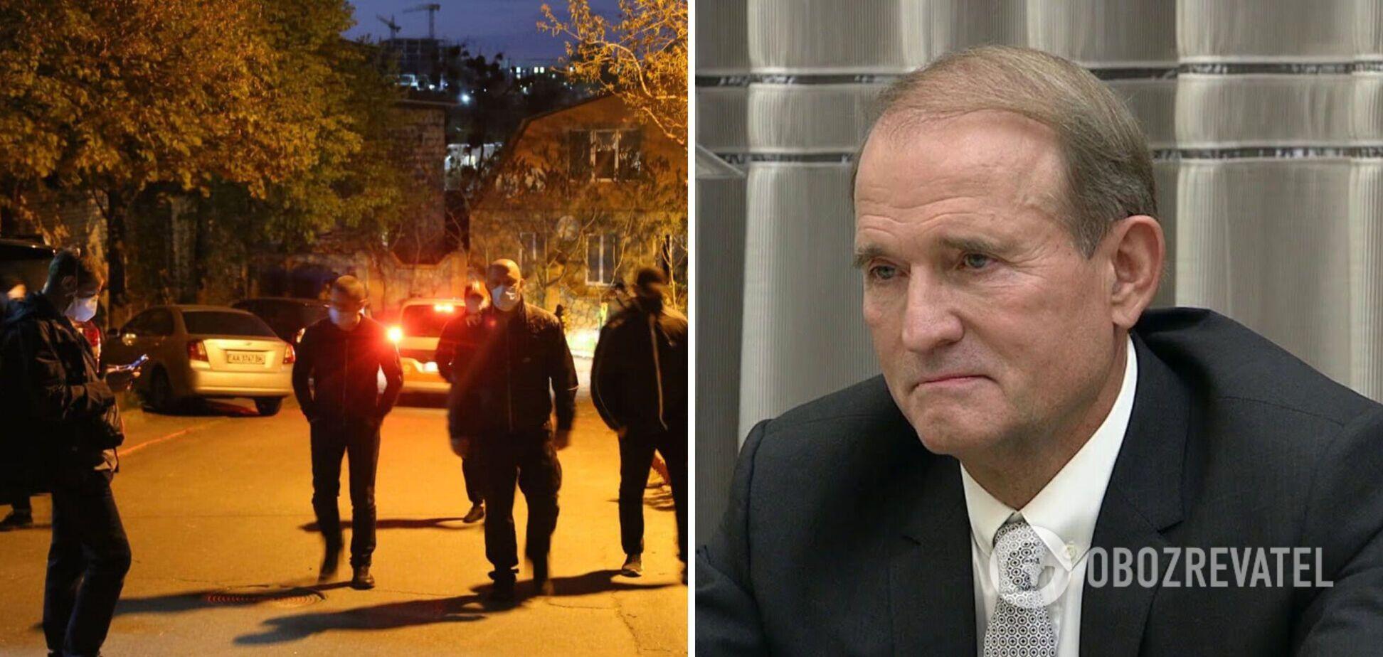 'Люди в чорному' завадили евакуатору забрати авто Медведчука. Відео