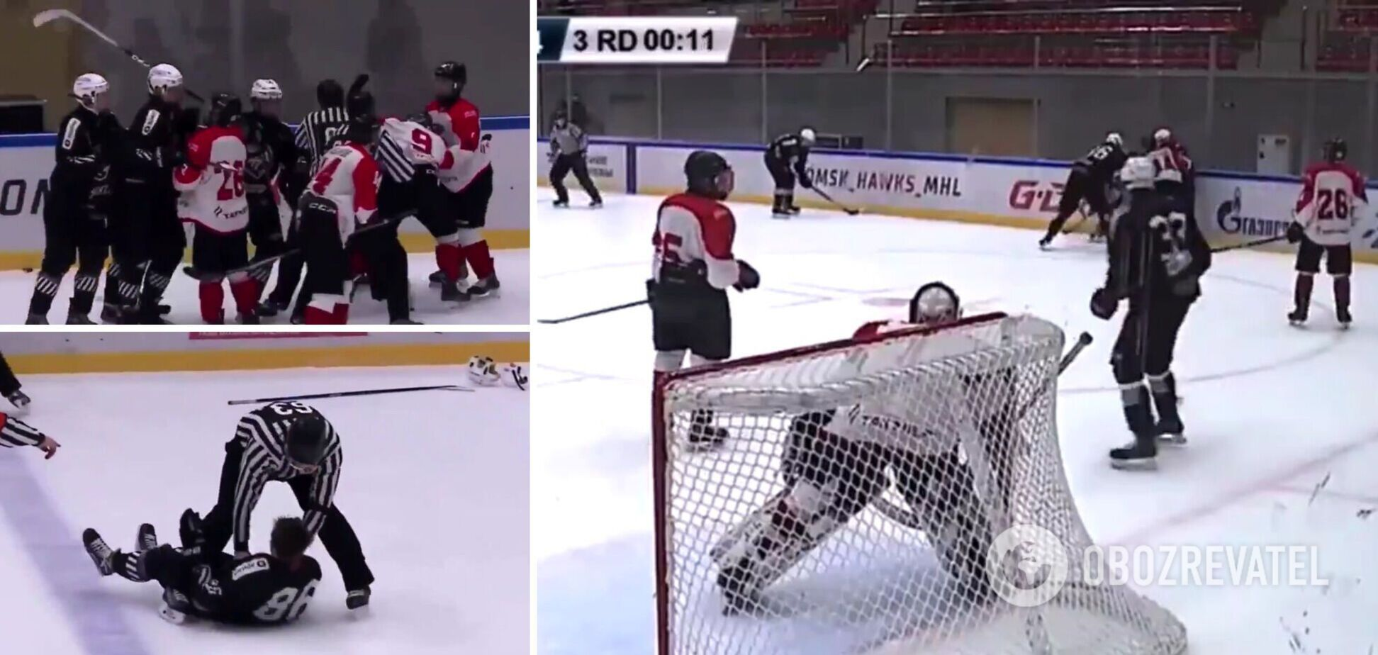 Бійка хокеїстів в Росії