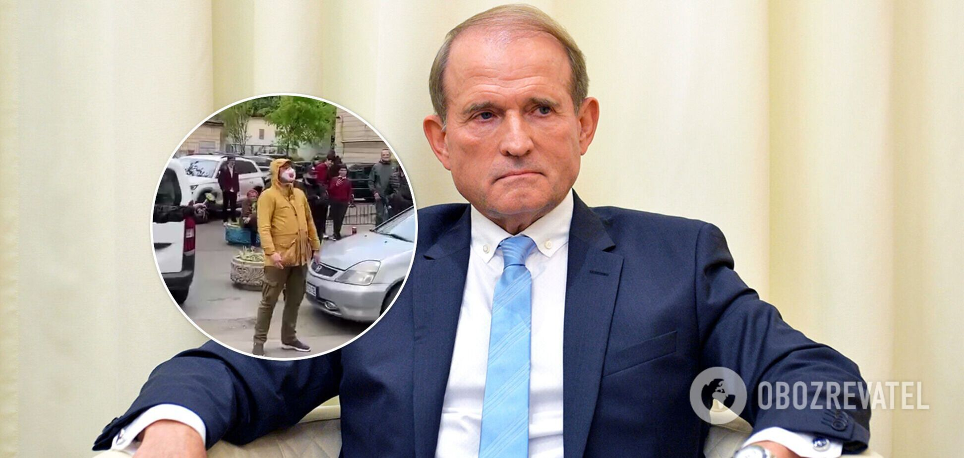 Журналист возле Офиса генпрокурора назвал Медведчука 'дьяволом', который 'погибнет в аду'. Курьезное видео