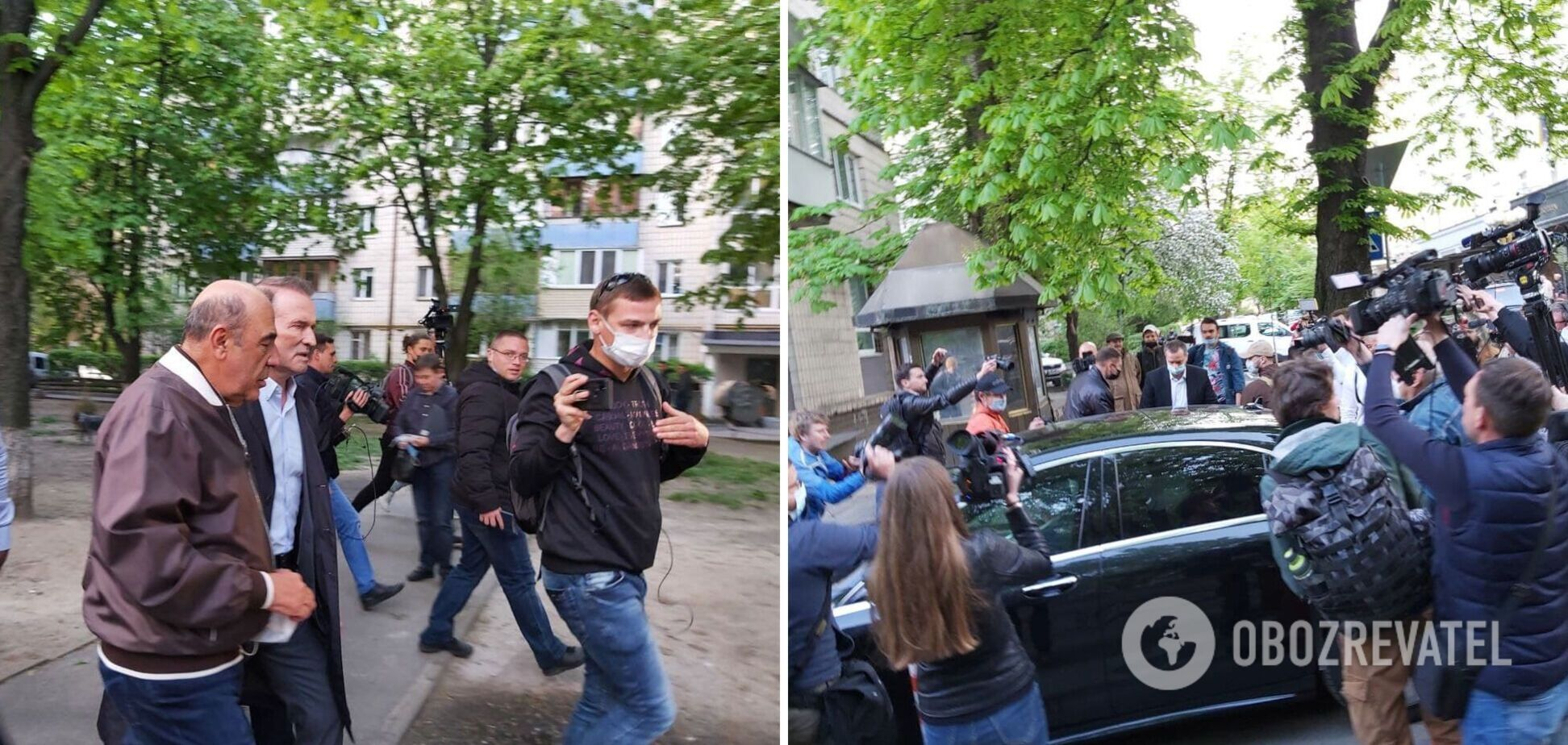 Медведчук получил в ОГП подозрение в госизмене: его не задержали. Фото и видео