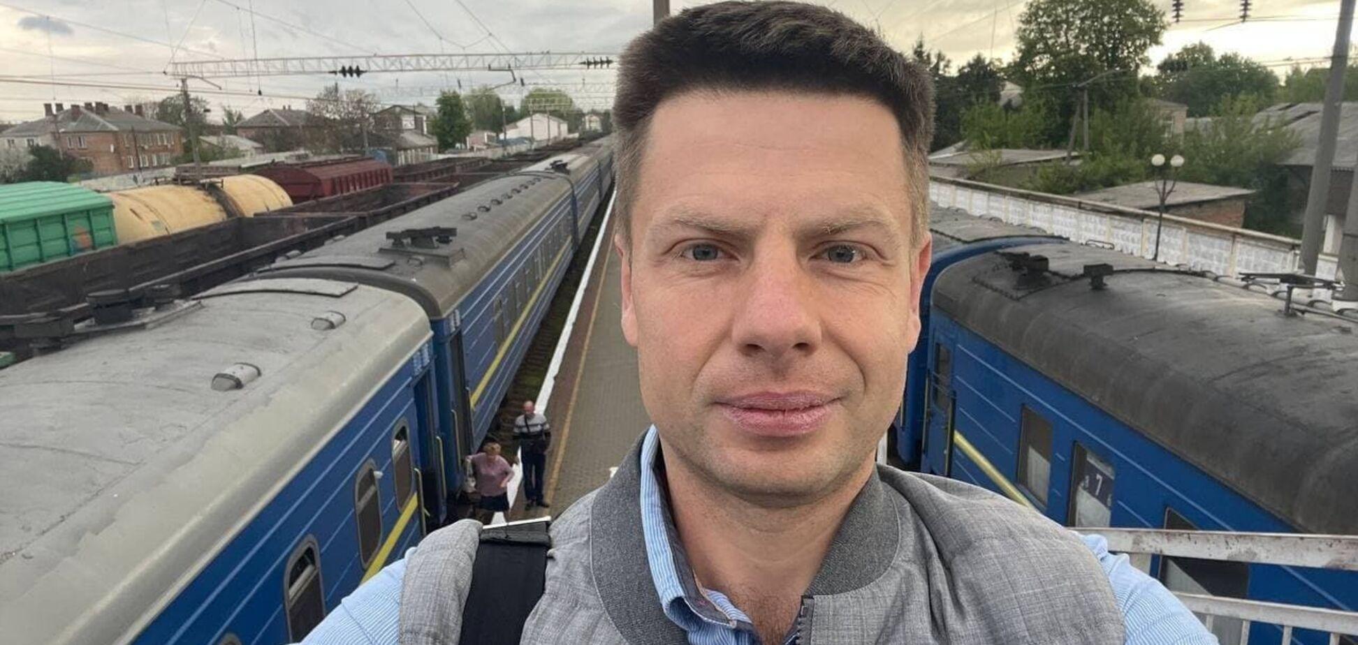 Нардепа Гончаренка обікрали в поїзді. Відео