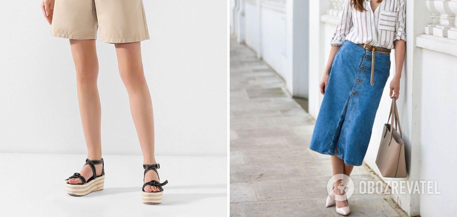 Сандалі та джинсові спідниці названо головною покупкою в цьому сезоні