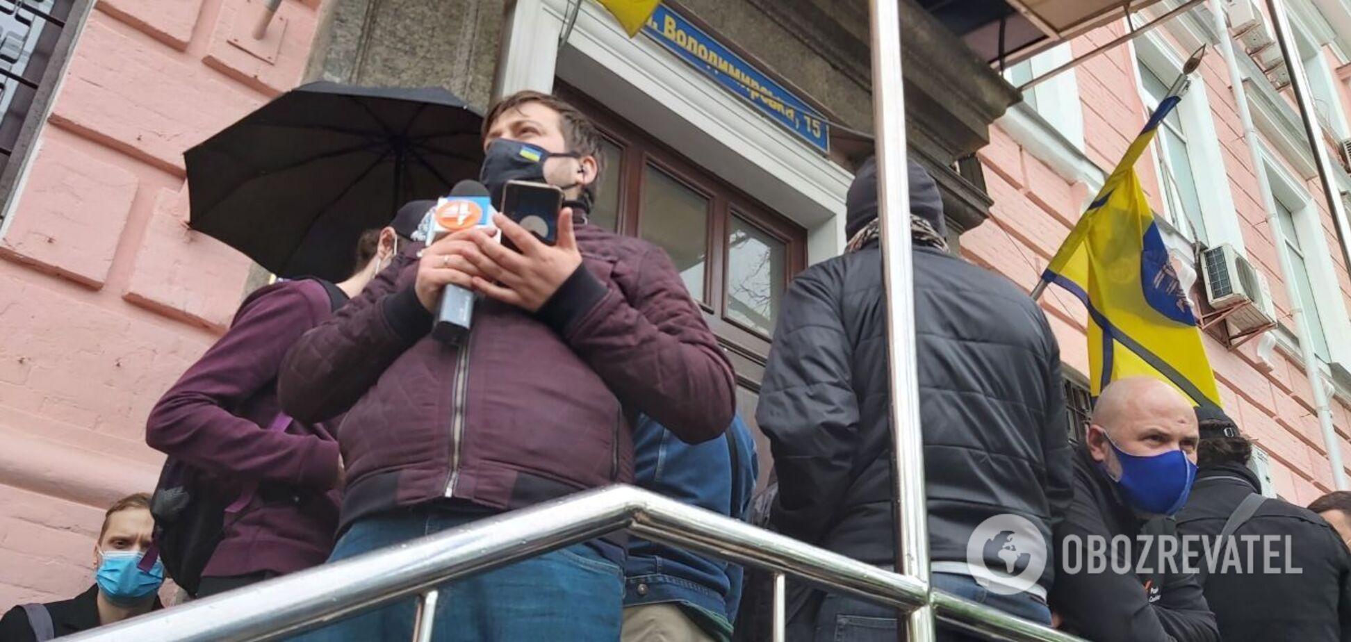 Біля будівлі суду, де обирають запобіжний захід Медведчуку, трапилася сутичка