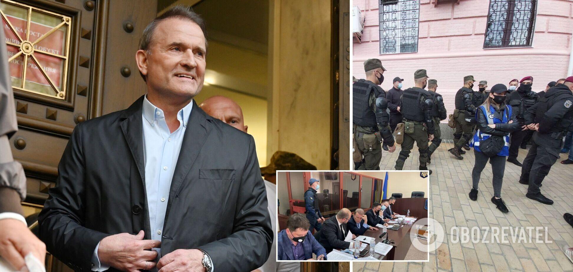 Суд избирает меру пресечения Медведчуку: что происходит под стенами. Все детали, фото и видео