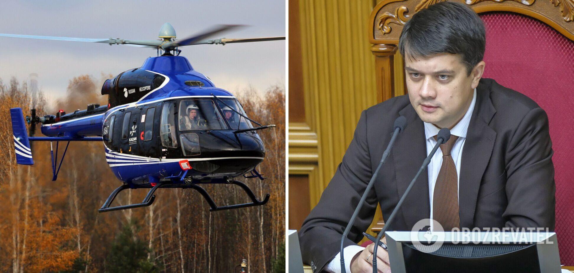 Вертоліт із Разумковим на борту здійснив аварійну посадку на Херсонщині – ЗМІ