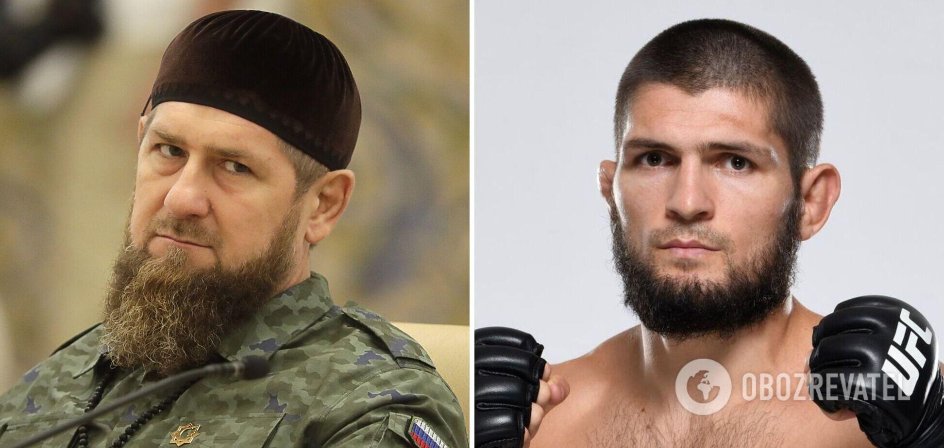 Рамзан Кадиров і Хабіб Нурмагомедов