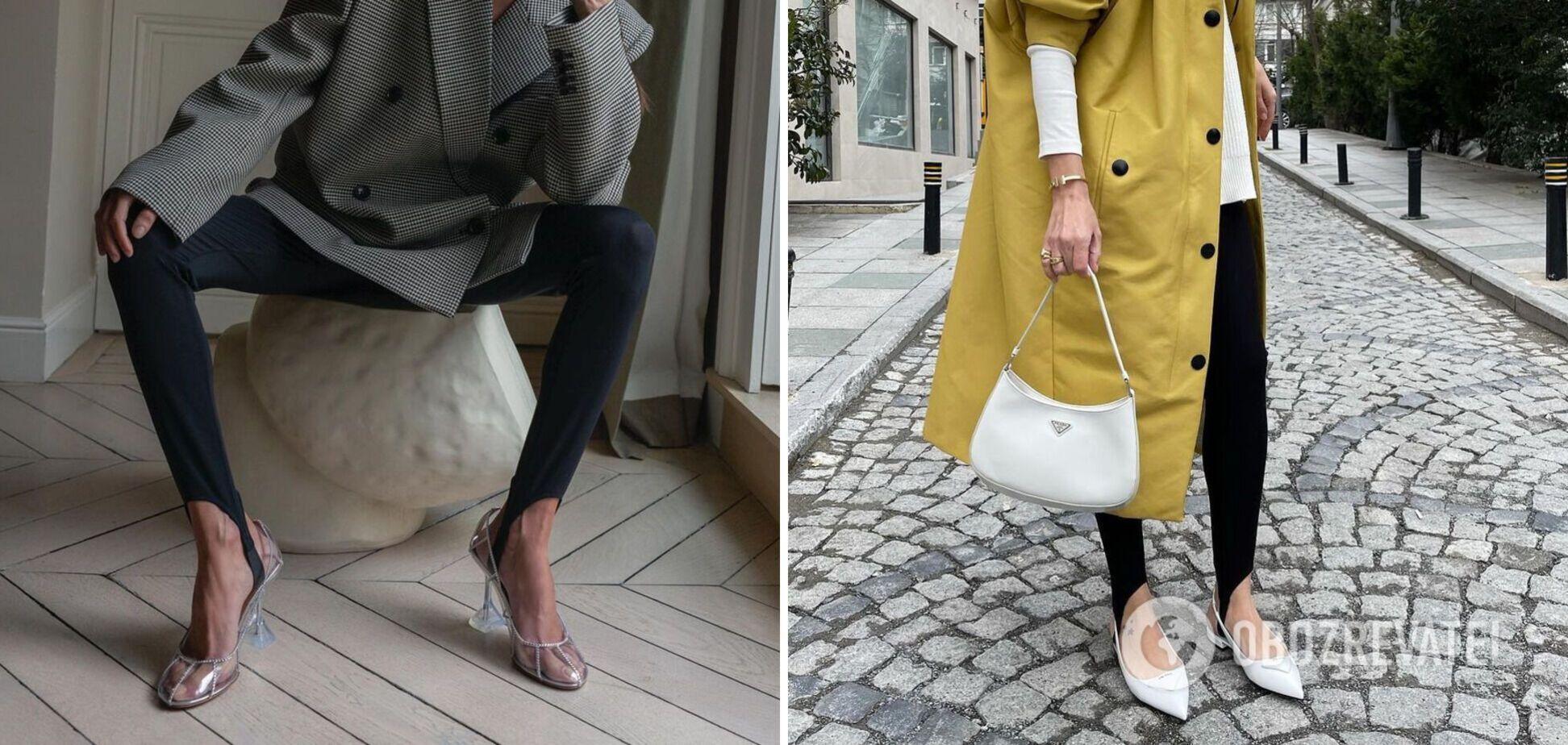 У моду повернулися популярні легінси зі штрипками: з чим їх носити