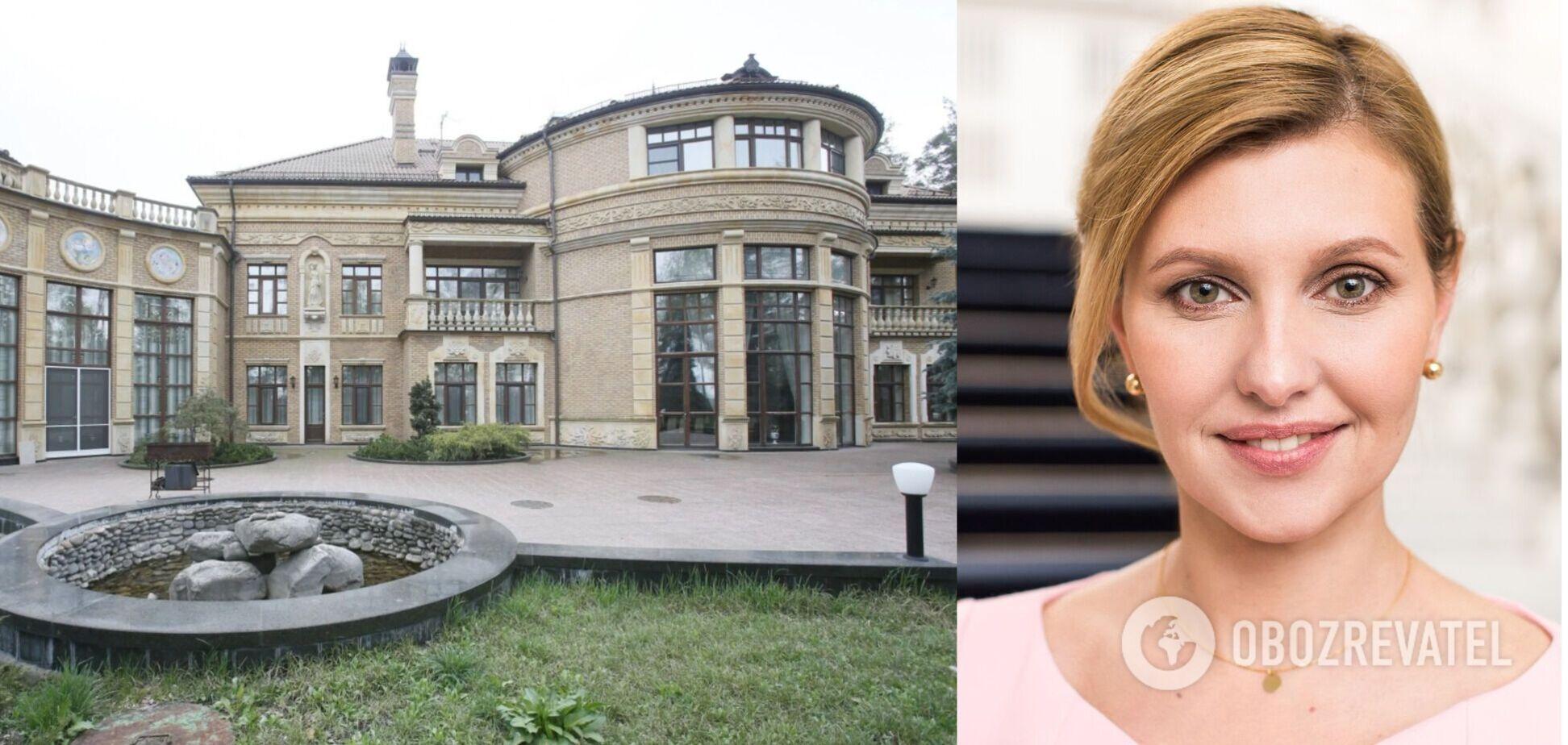 Зеленська розповіла про золоті люстри та мармурові ванни на президентській держдачі