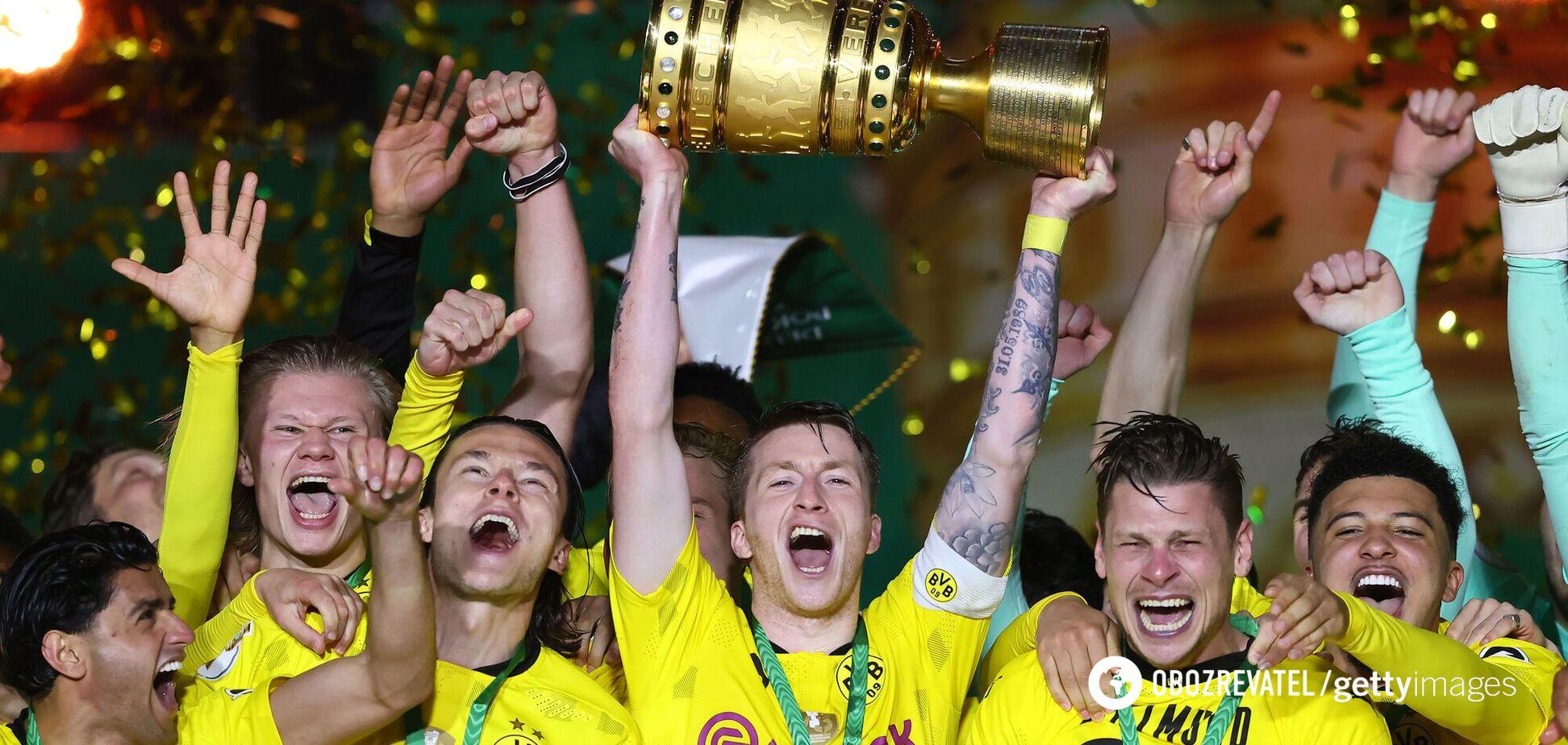 'Боруссія' Д святкує перемогу в Кубку Німеччини