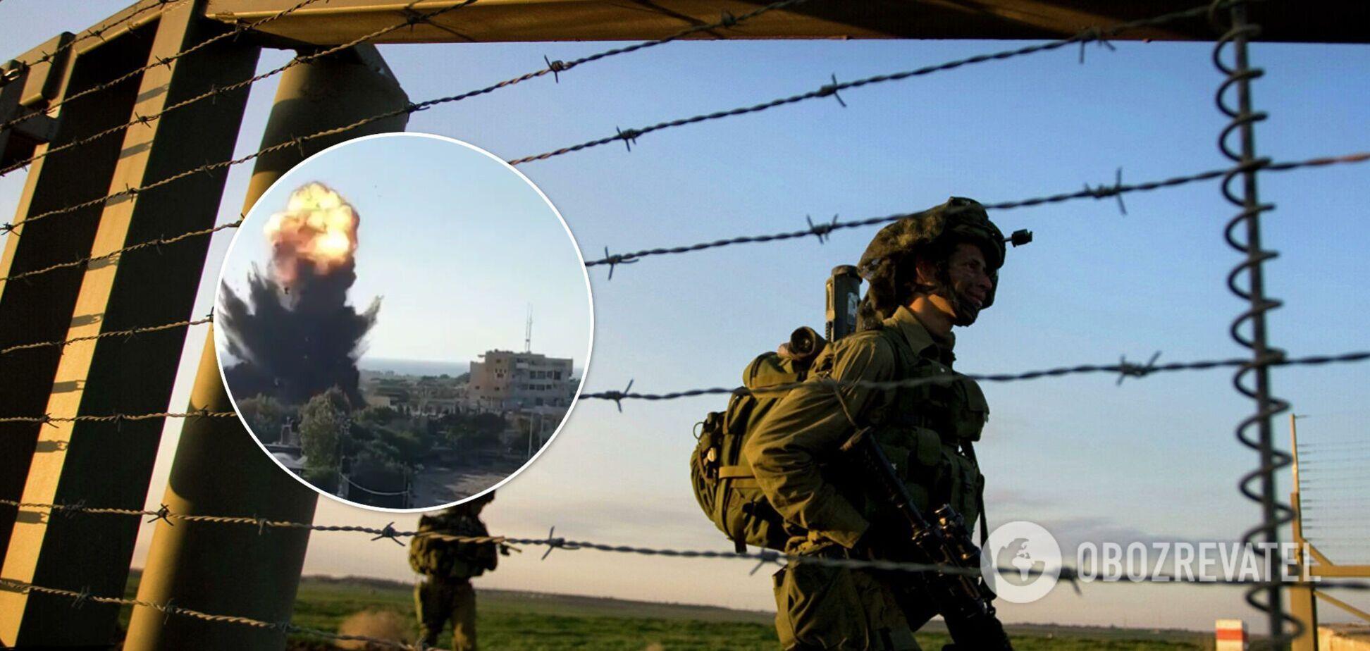 Ізраїль розбомбив будинок, в якому ХАМАС використовував ЗМІ як живий щит: момент потрапив на відео