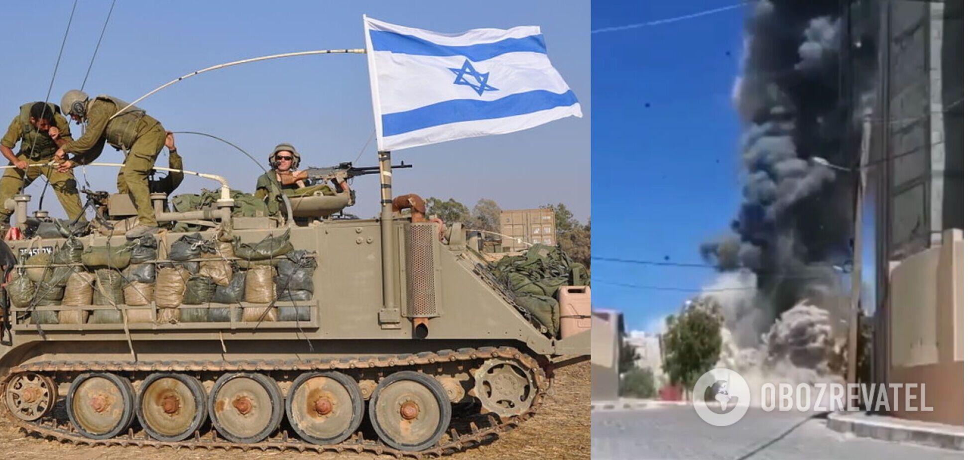 Израиль разбомбил дома четырех командиров ХАМАС. Видео атаки
