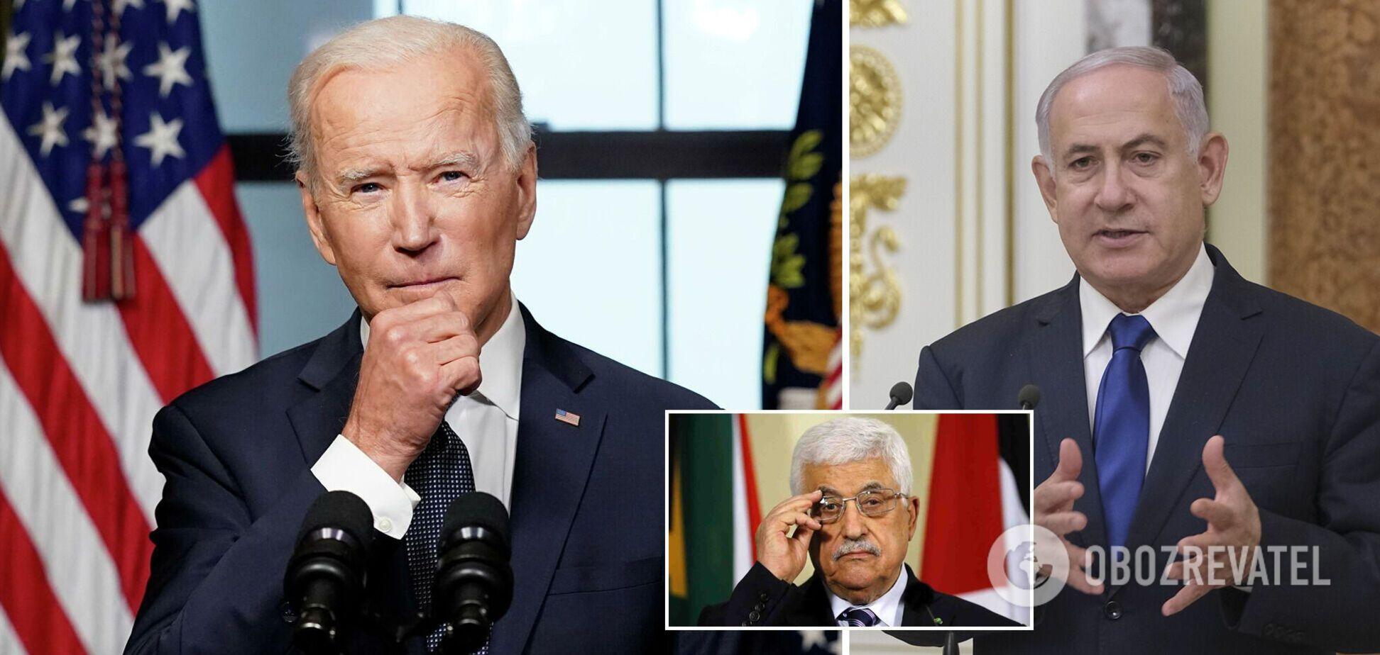 Байден обсудил с Нетаньяху и Аббасом обострение в секторе Газа