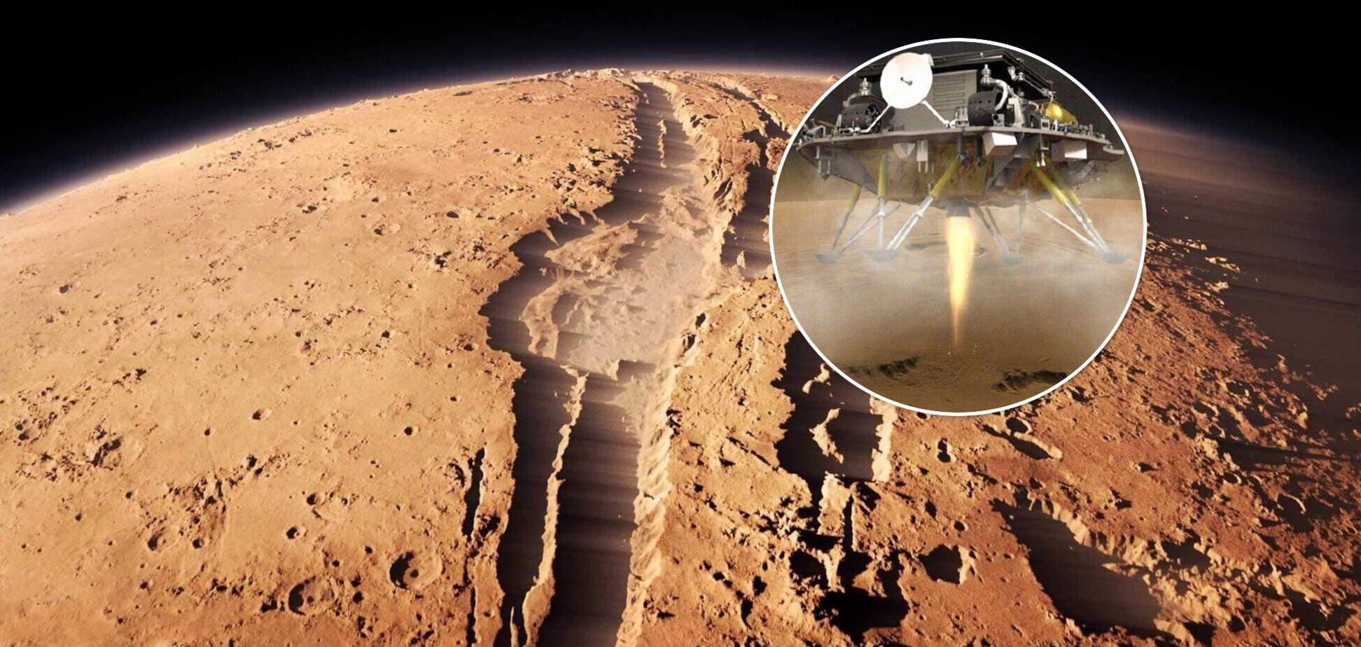 Перший китайський зонд успішно сів на Марсі: з'явилося відео