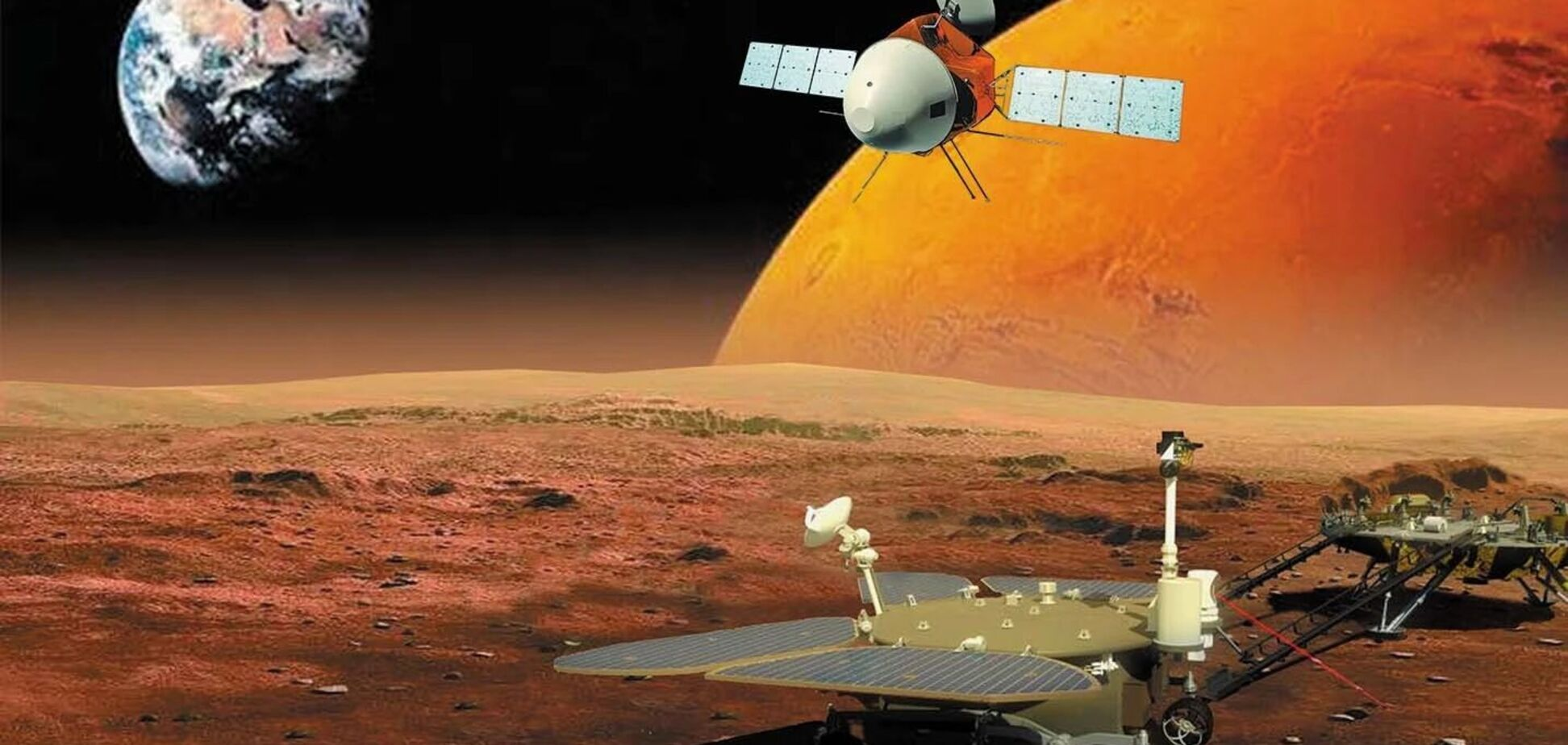 Перший китайський зонд успішно сів на Марс