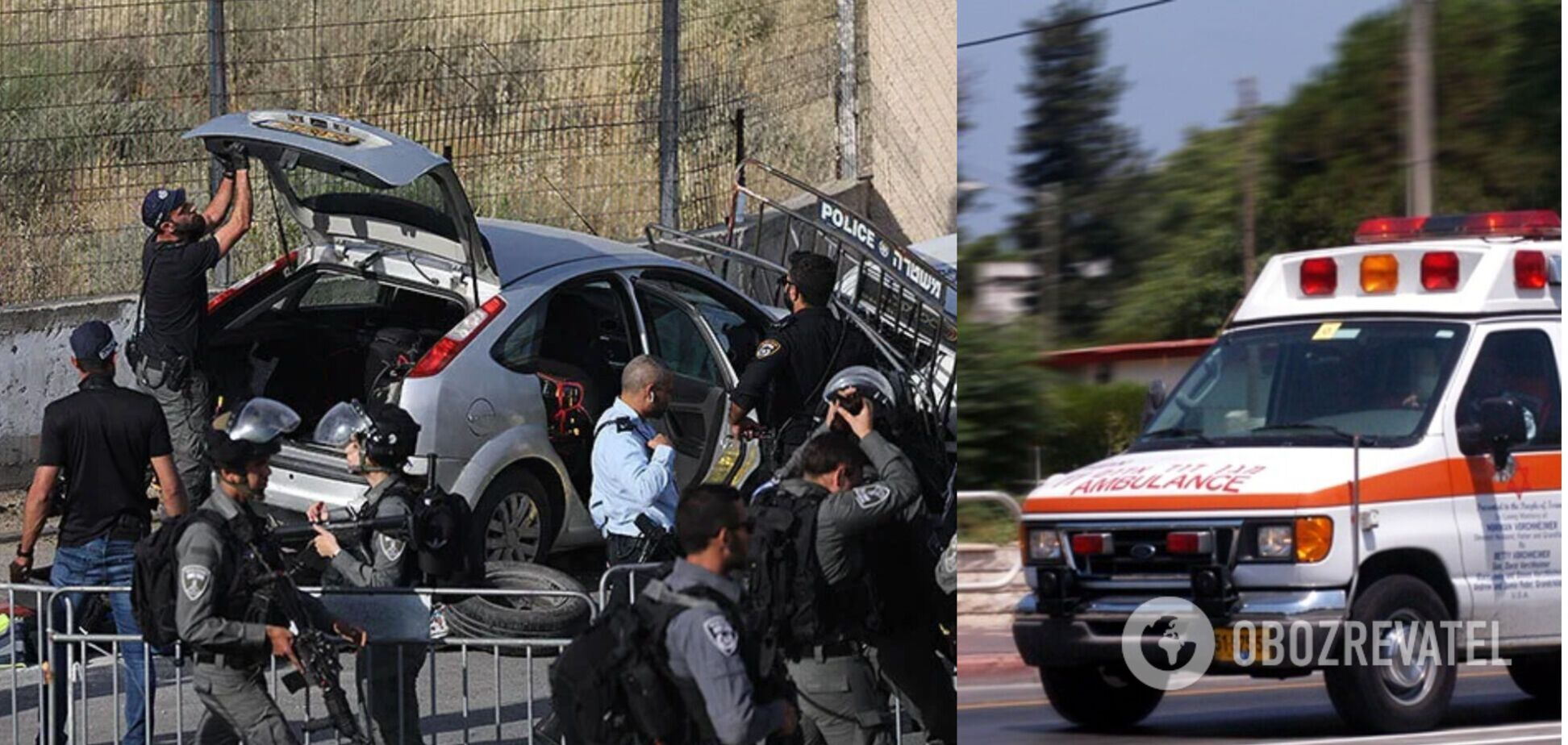 В сети появились кадры теракта в Израиле