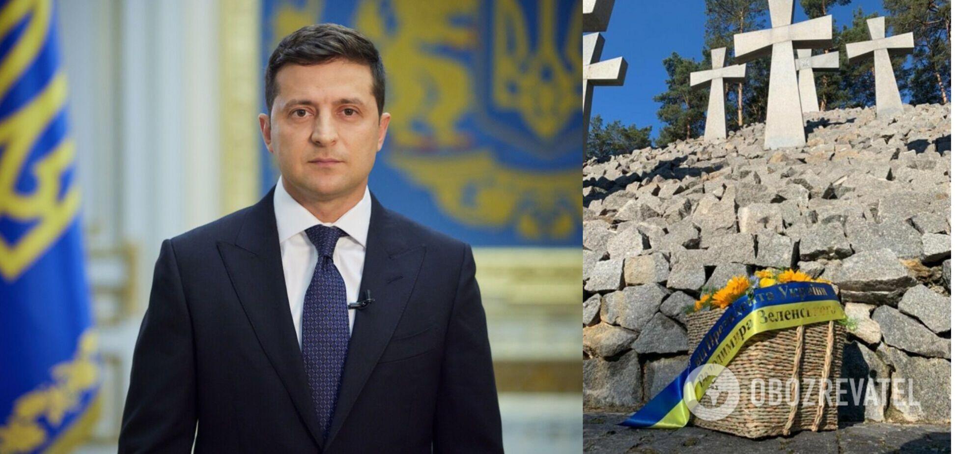 Зеленський вшанував пам'ять жертв політичних репресій: схиляємо голови перед тими, хто пережив пекло
