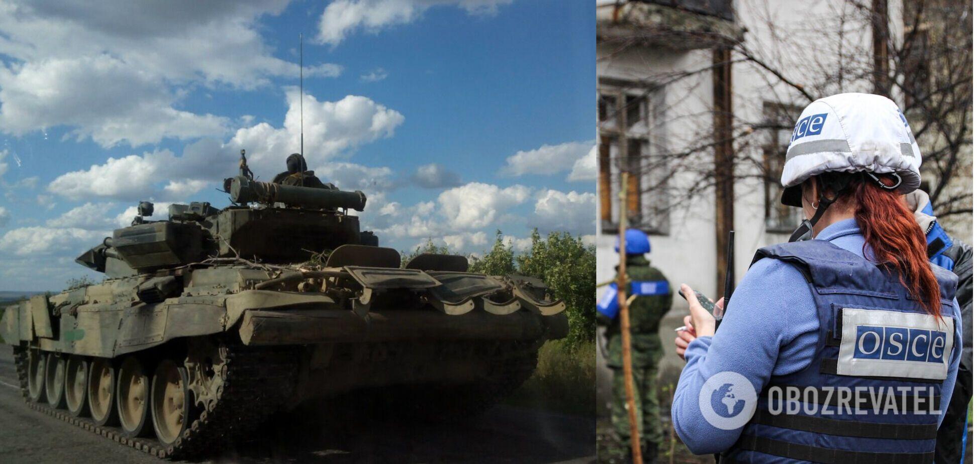 ОБСЕ засекла на Донбассе скопление танков террористов