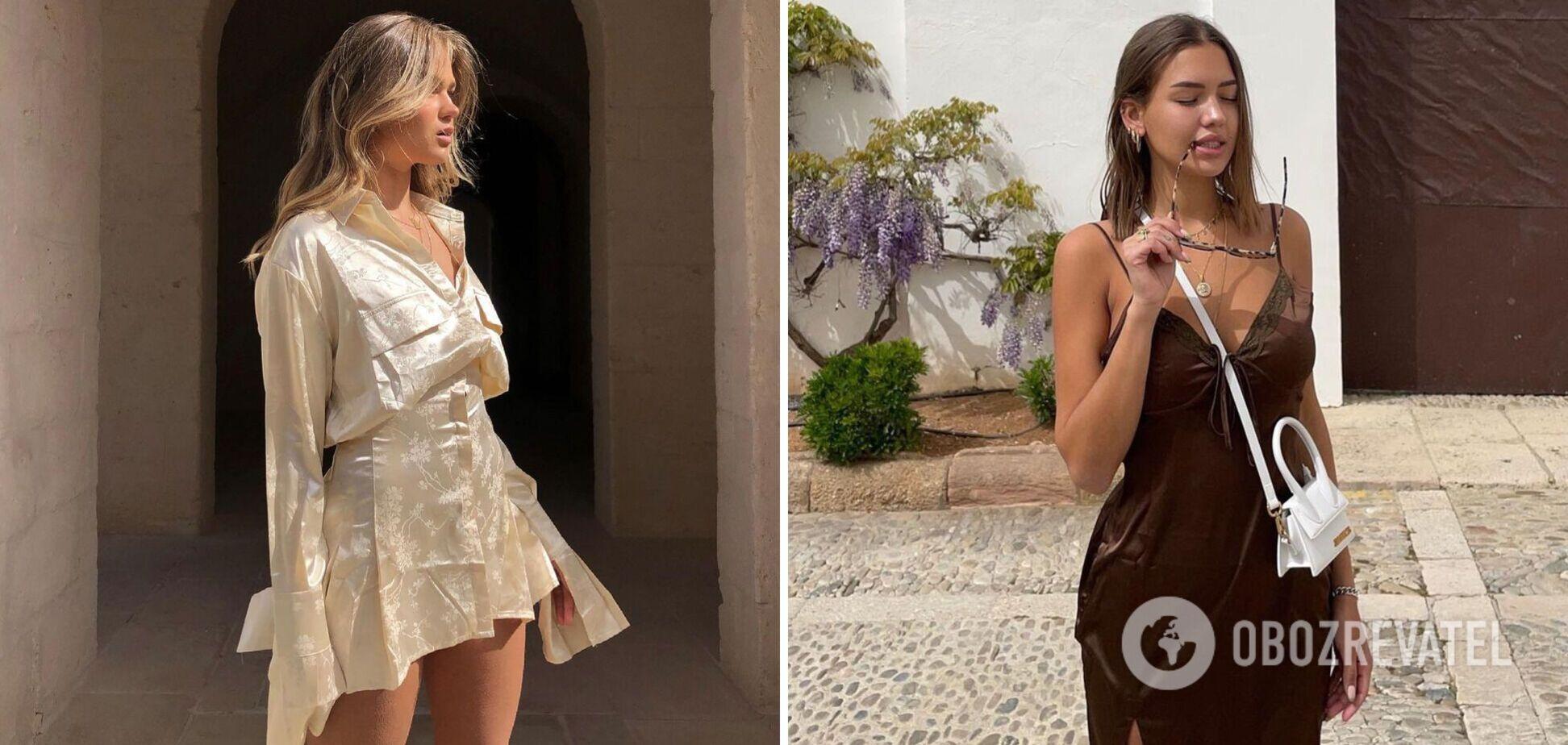 Модні шовкові сукні на літо 2021