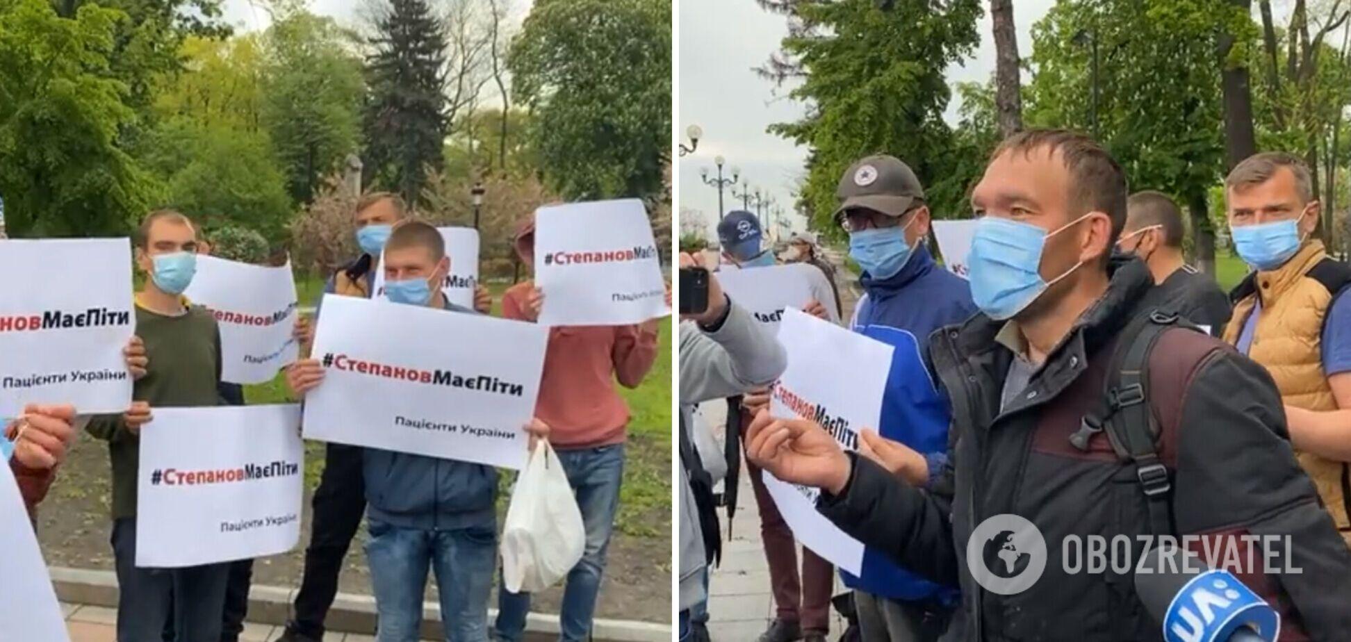 У Києві проти Степанова протестували проплачені люди