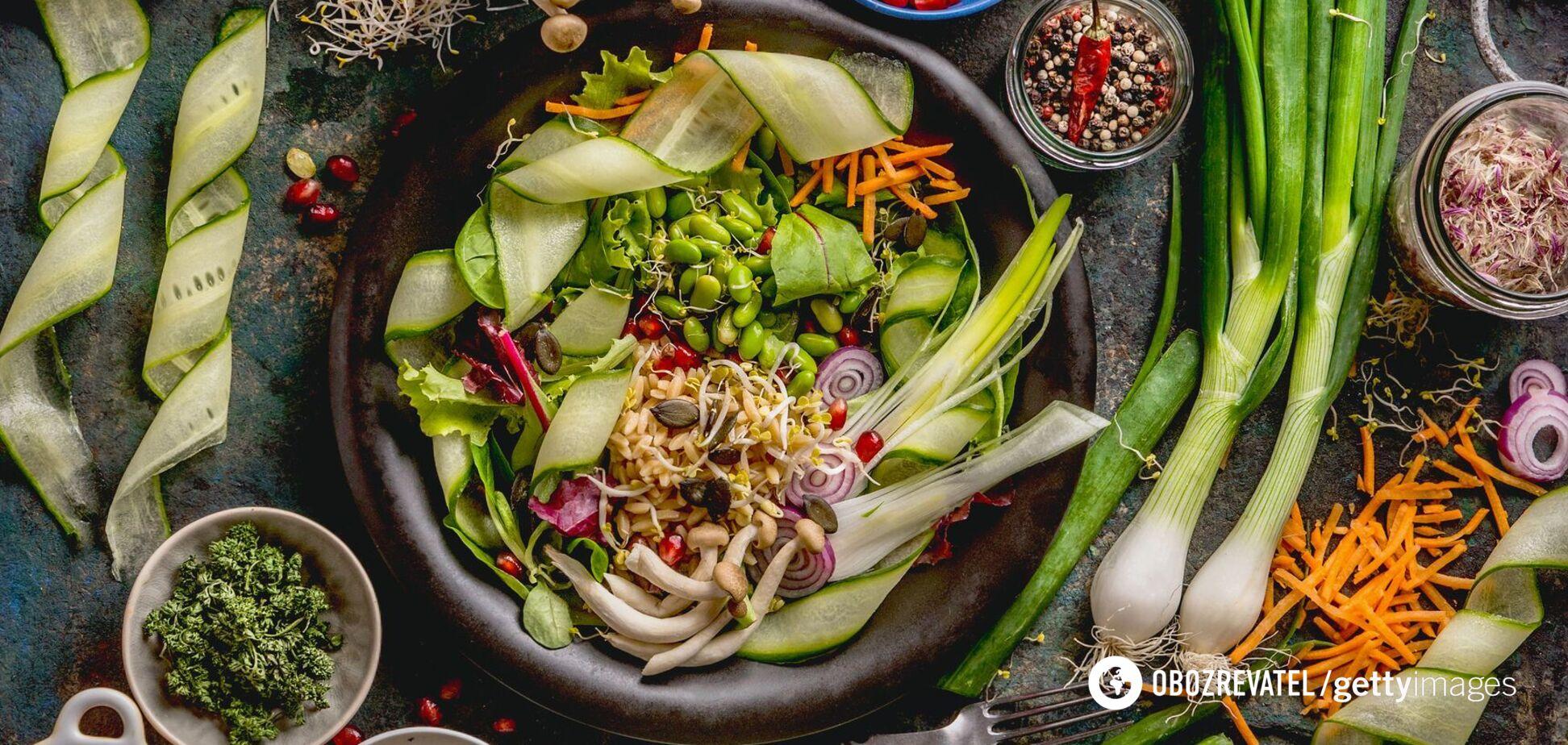 Інгредієнти для корисних салатів