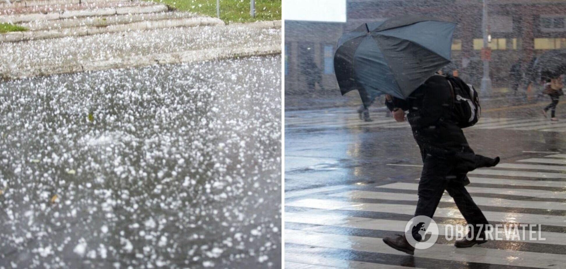 До України увірвуться град і штормовий вітер: де у вівторок погода буде небезпечною. Карта