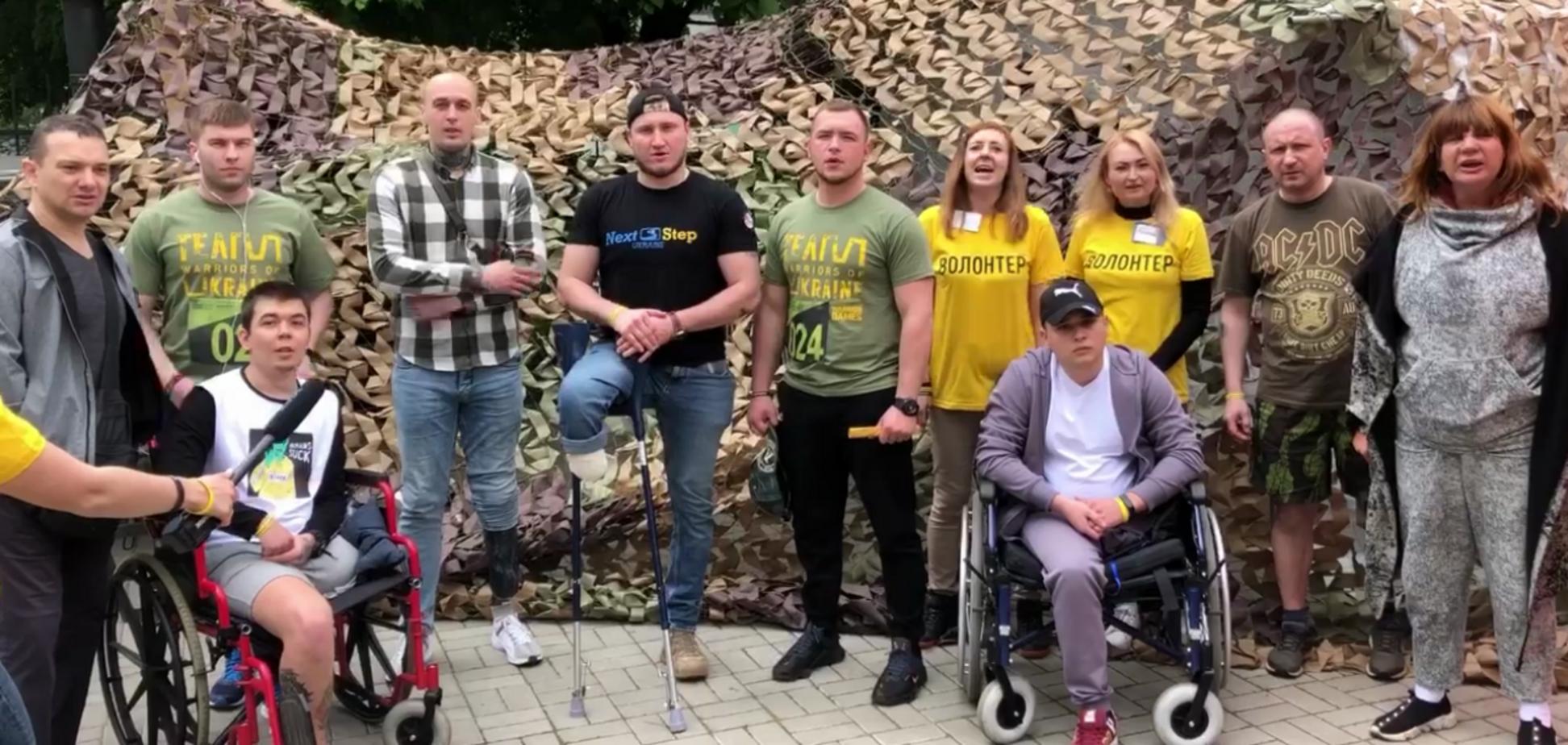 Поранені військові та ветерани АТО записали звернення до Кабміну
