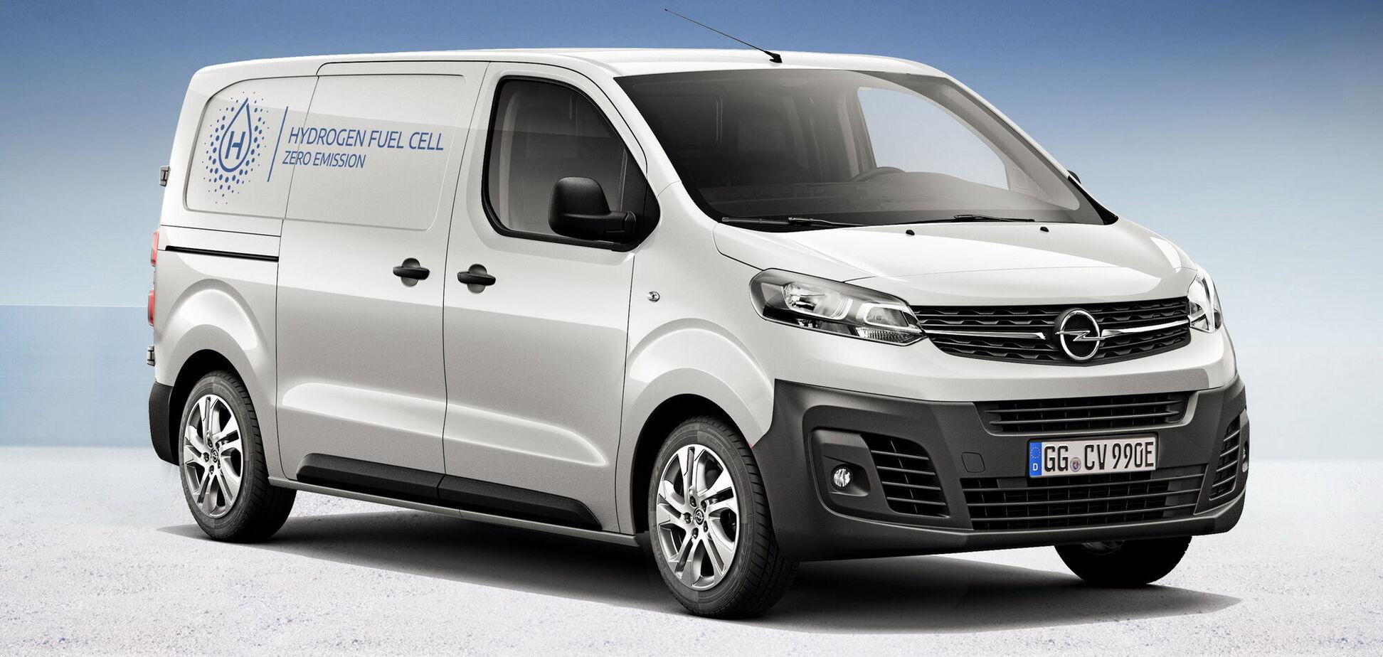 Електричні фургони Opel працюватимуть на водні