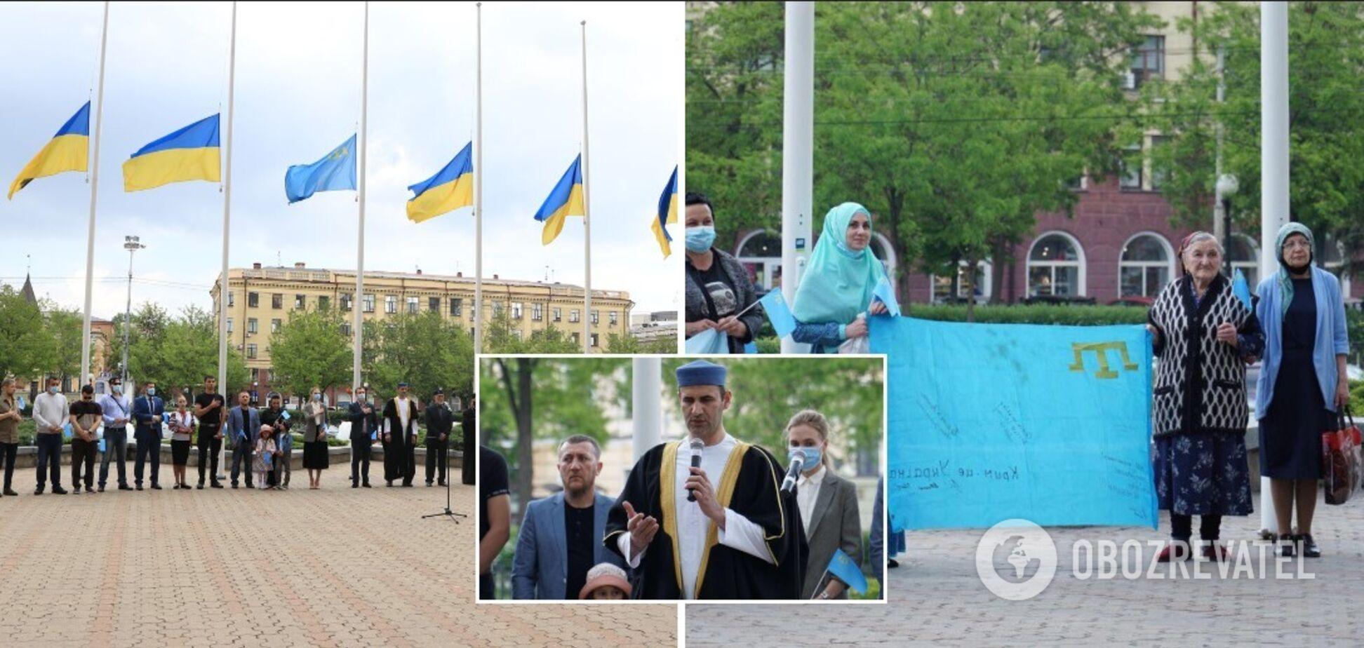В Днепре почтили память погибших во время депортации крымских татар
