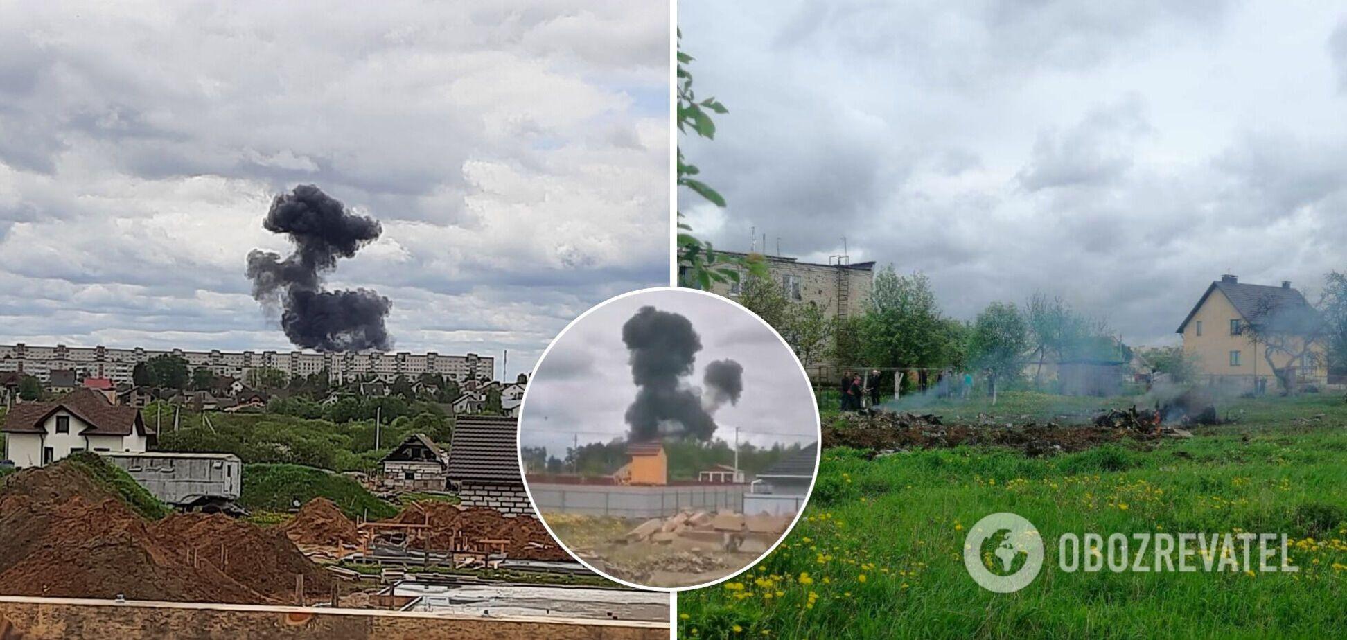 У Білорусі впав бойовий літак: загинули обидва льотчики. Відео
