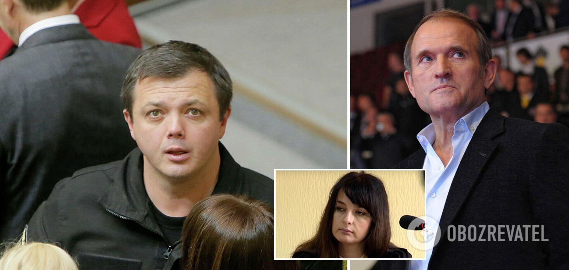 Семенченко потребовал очной ставки с Медведчуком и отказался от судьи, чья дочь оскандалилась из-за Басты