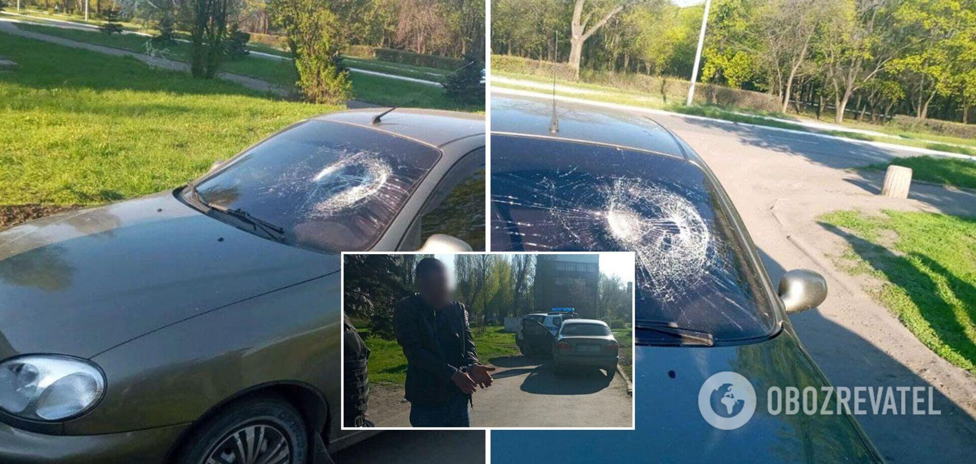 На Донеччині п'яний водій збив поліцейського. Фото