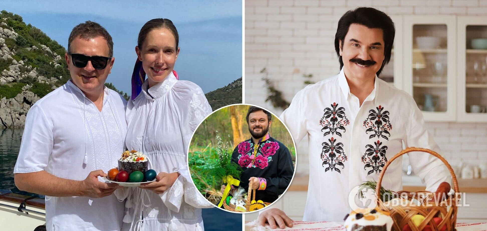 Беременная Осадчая на море, а Зибров дома: как украинские звезды празднуют Пасху