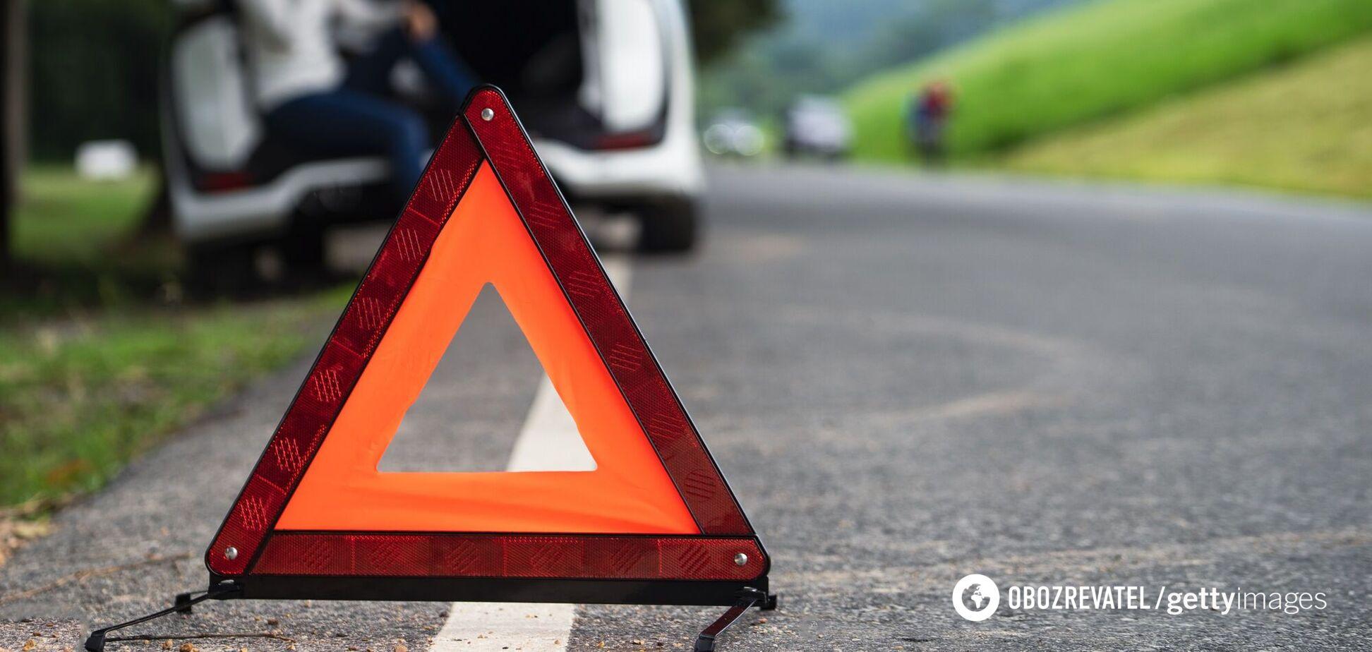 Авария произошла в районе Выдубицкого монастыря