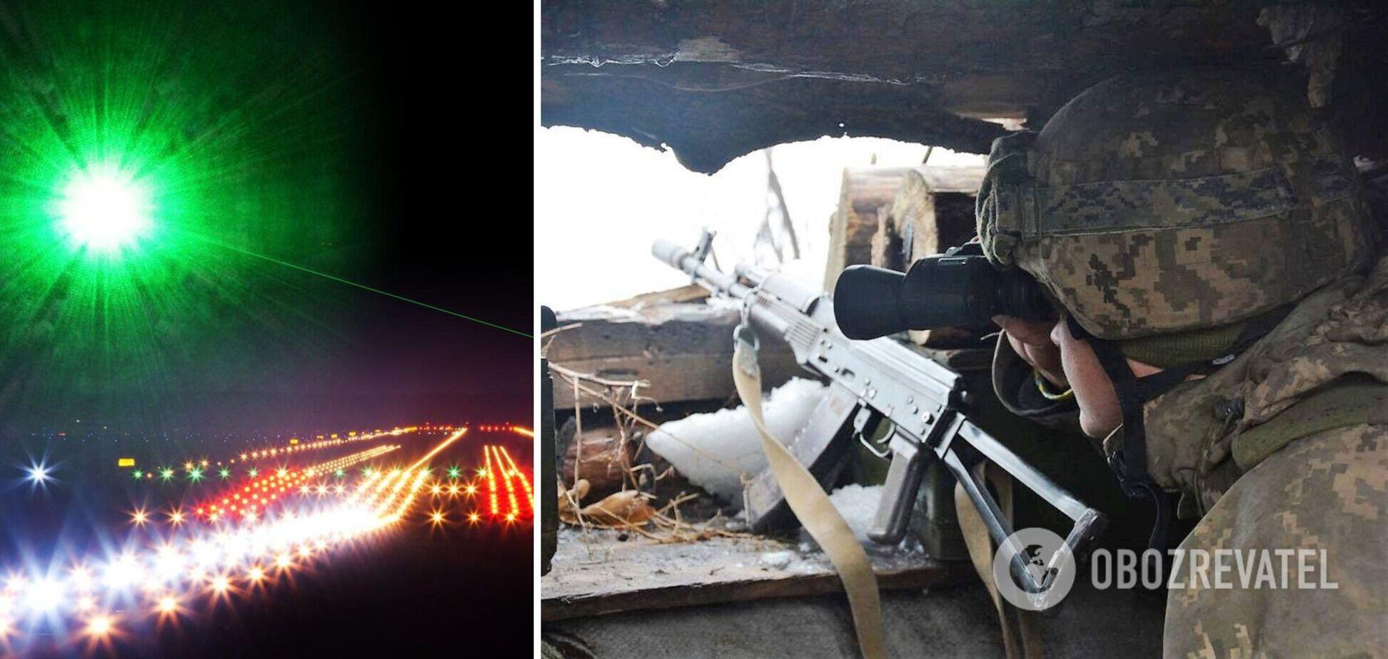 Это могли быть слепящие лазеры российского производства