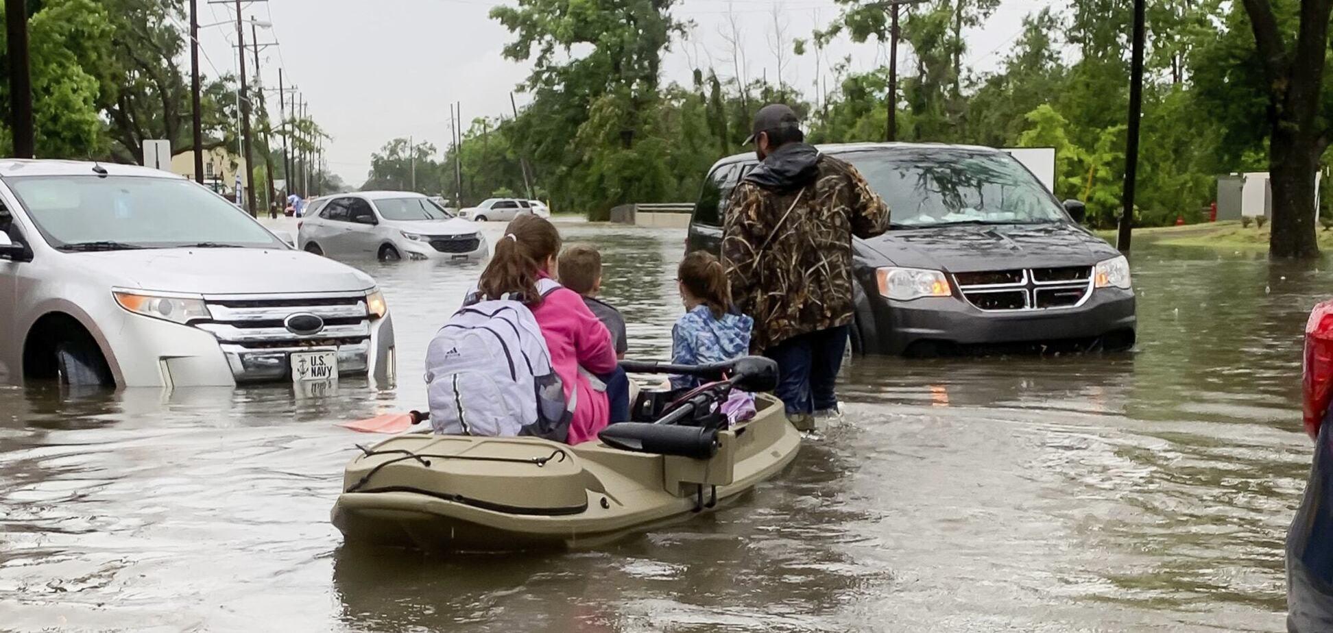 Наводнение в Луизиане, США