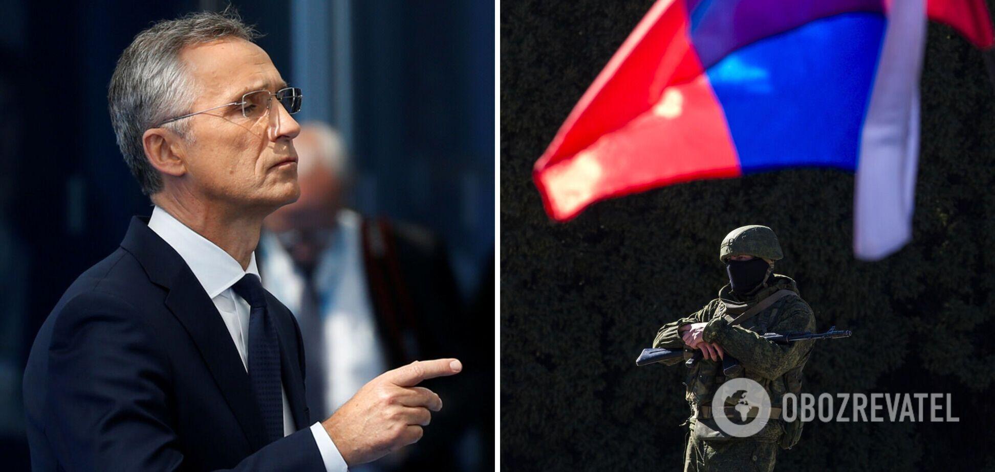 Генсек НАТО сделал заявление об увеличении количества российских войск вблизи Украины