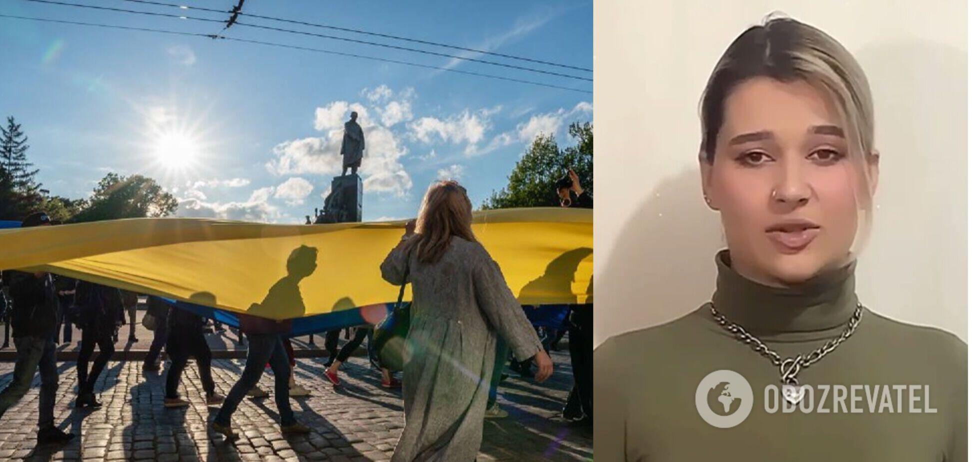Харьковчанку, оскорбившую патриотов в вышиванках, уволили с работы: видео с извинениями