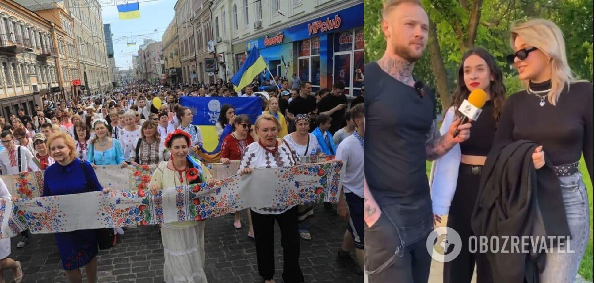 Девушка заявила, что шествие в вышиванках 'просто отвратительно'