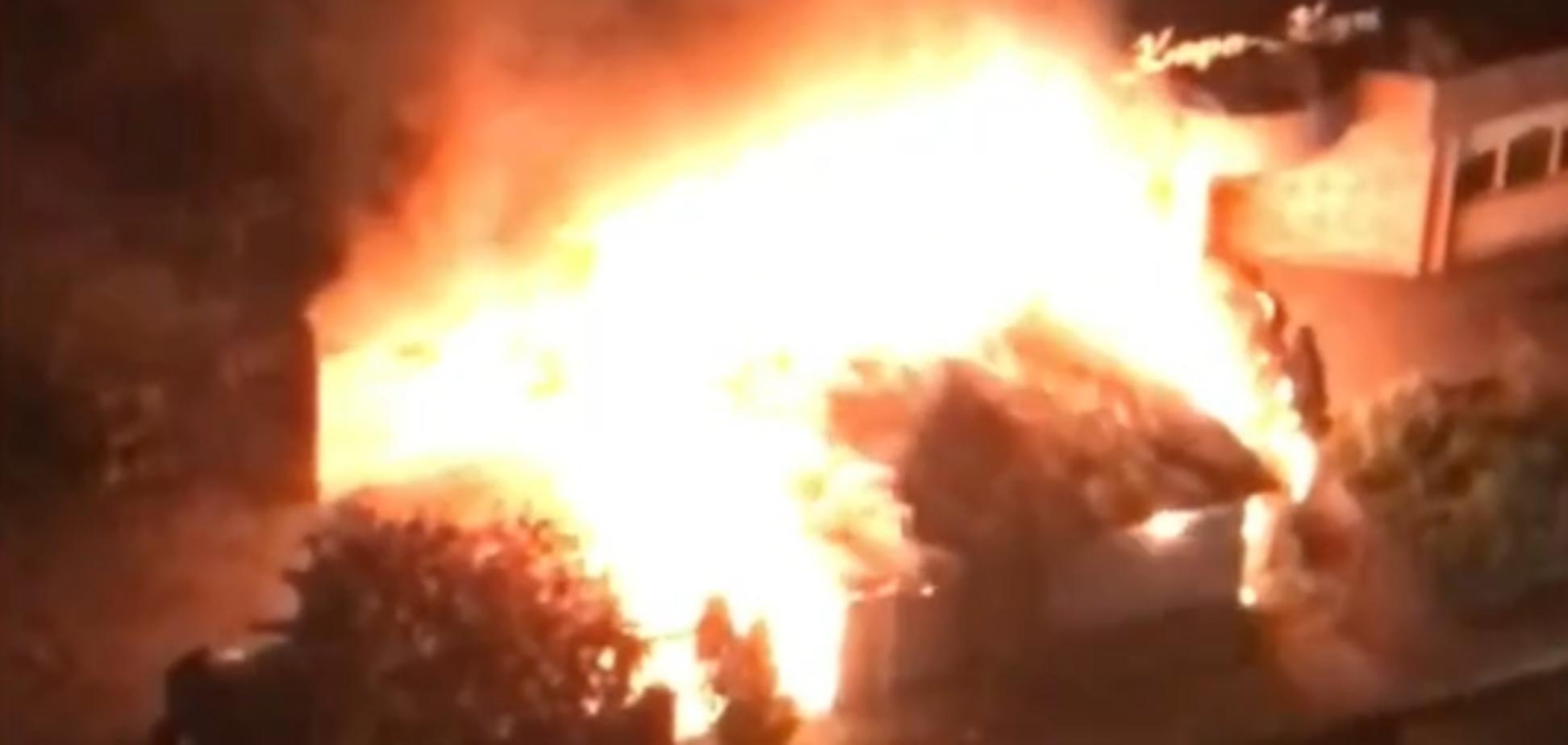 Пожежа в кафе в Києві