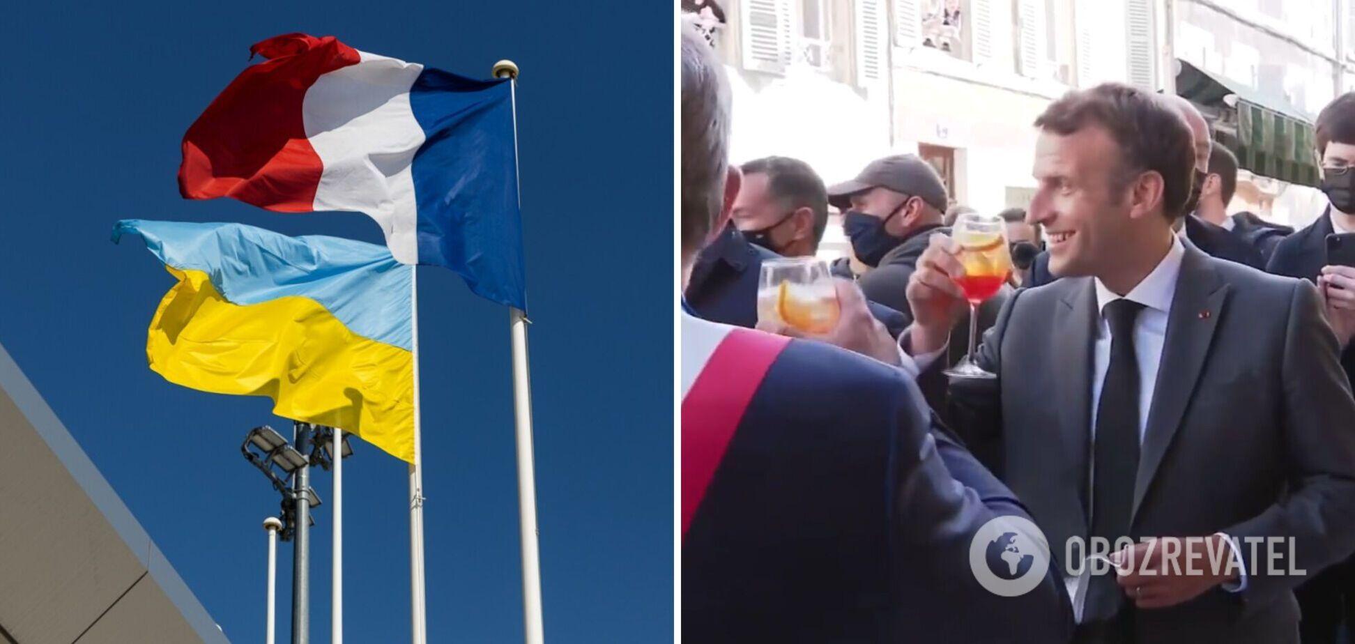 Макрон поднял тост за ослабление карантина под украинское 'Будьмо!' Видео