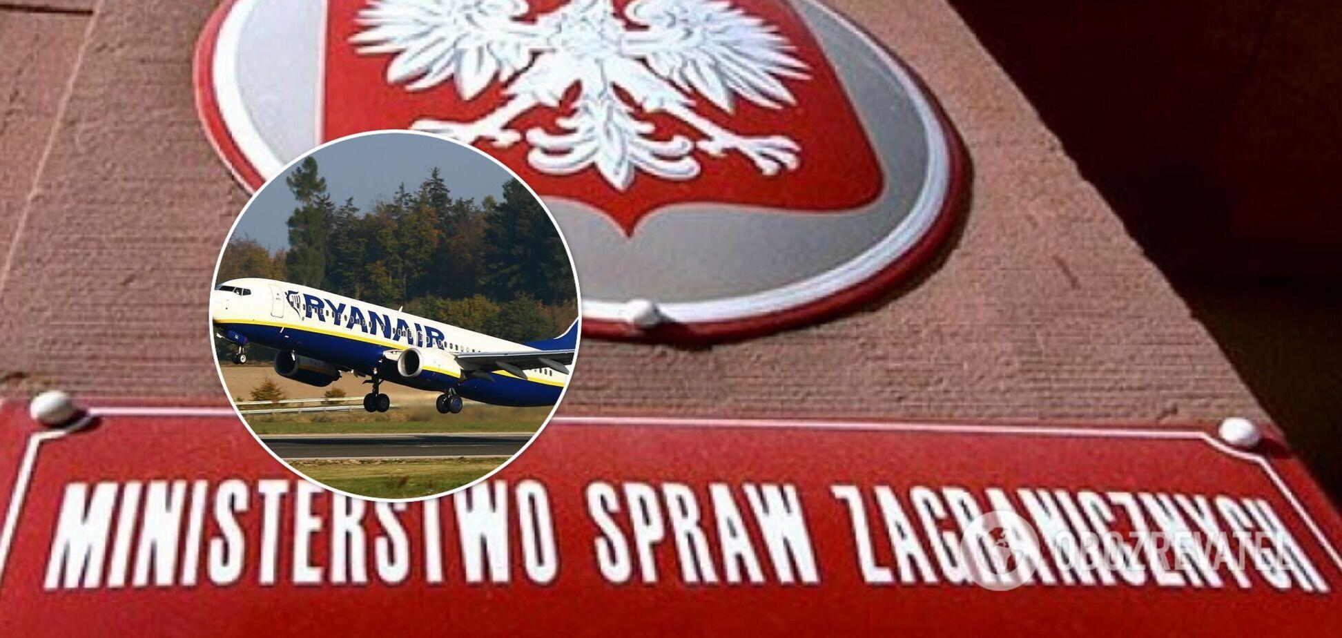 Польща звинуватила Білорусь у викраденні пасажирського літака і тероризмі