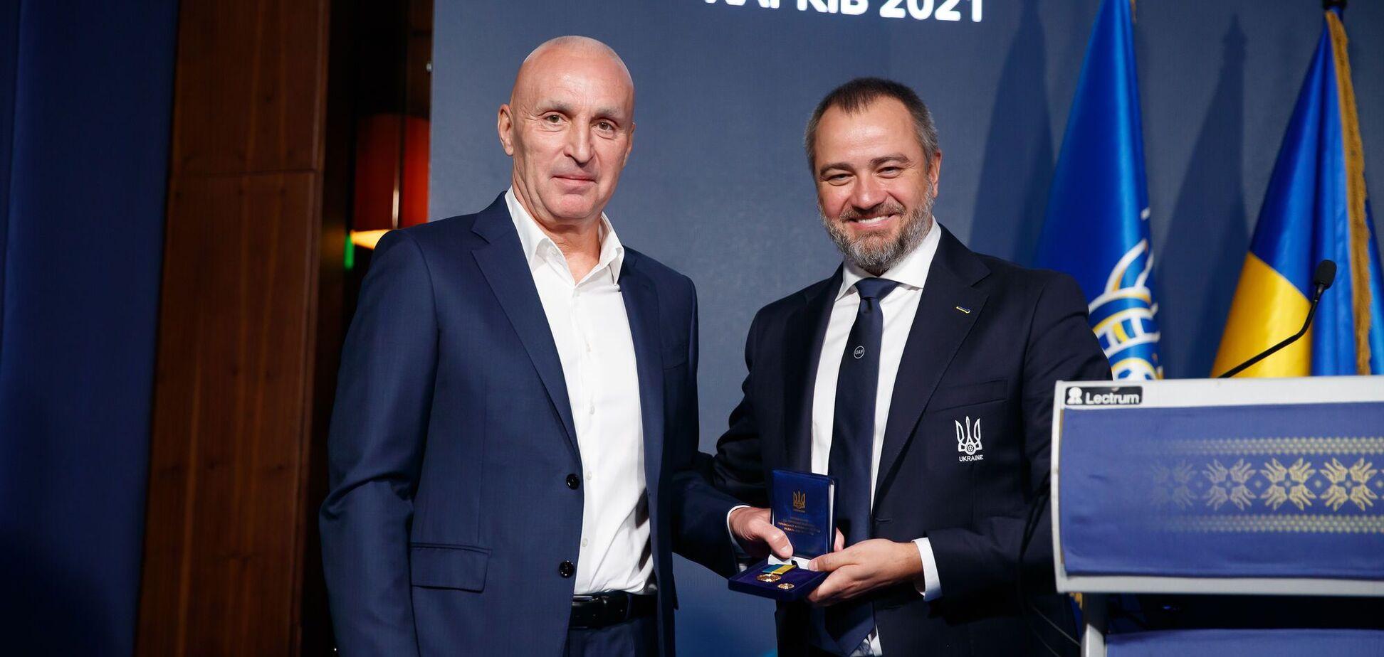 На конгресі УАФ Ярославського нагородили орденом 'За заслуги'